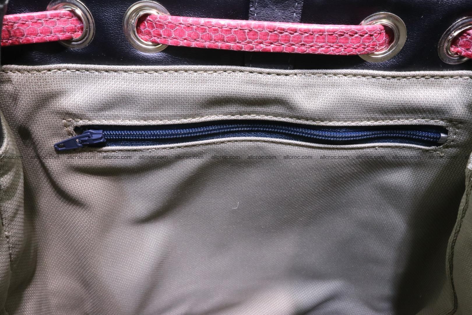 Cobra skin backpack with head of cobra 418 Foto 12