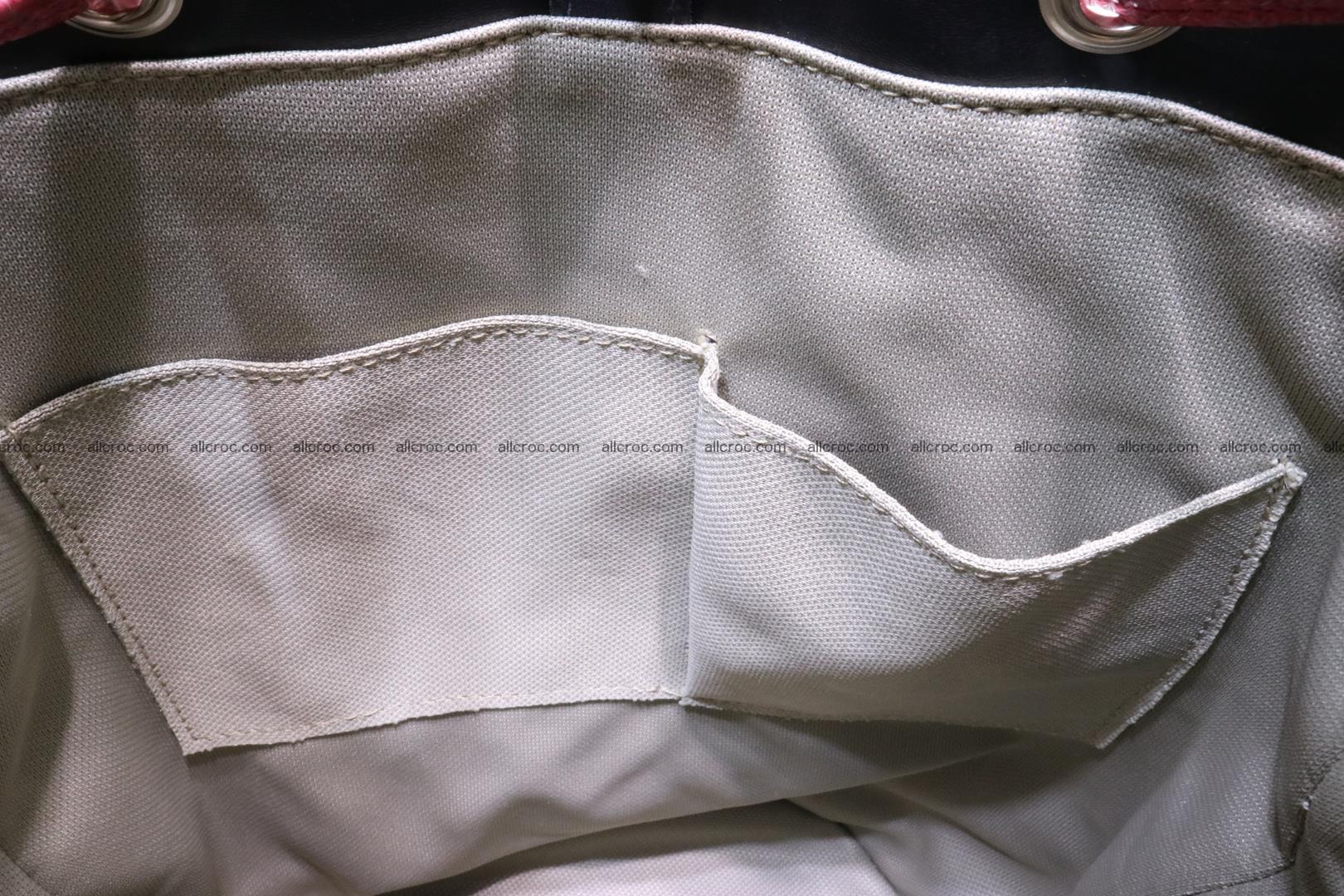 Cobra skin backpack with head of cobra 418 Foto 13