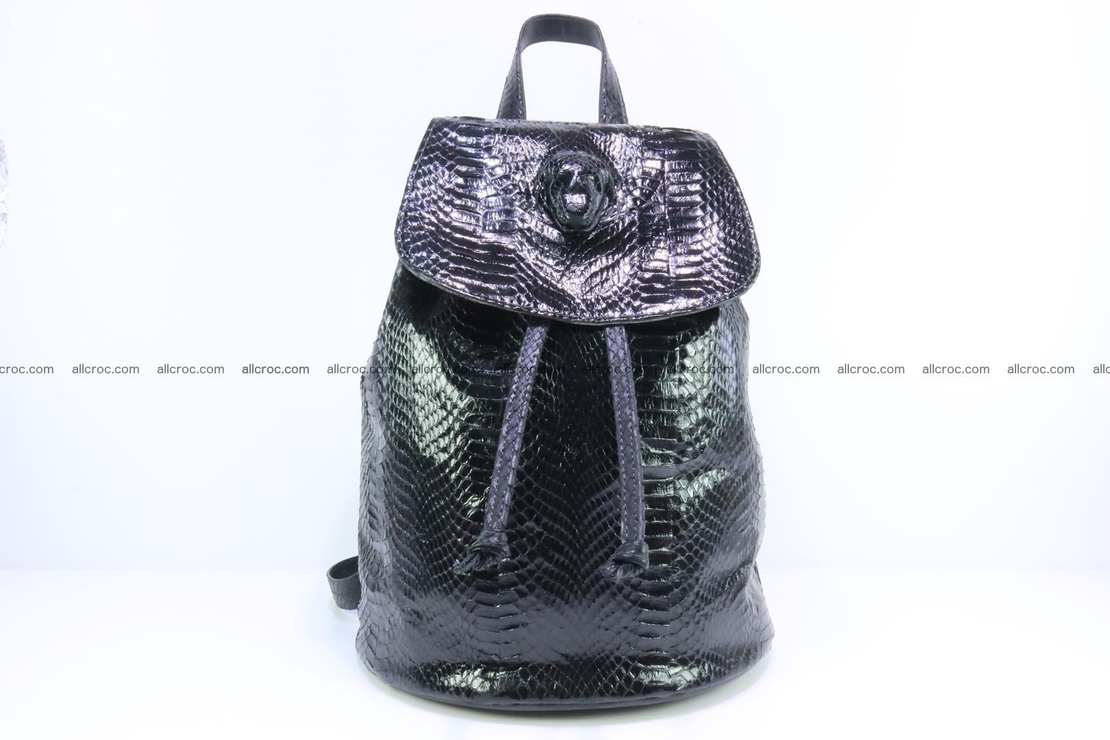 Cobra skin backpack with head of cobra 417 Foto 0
