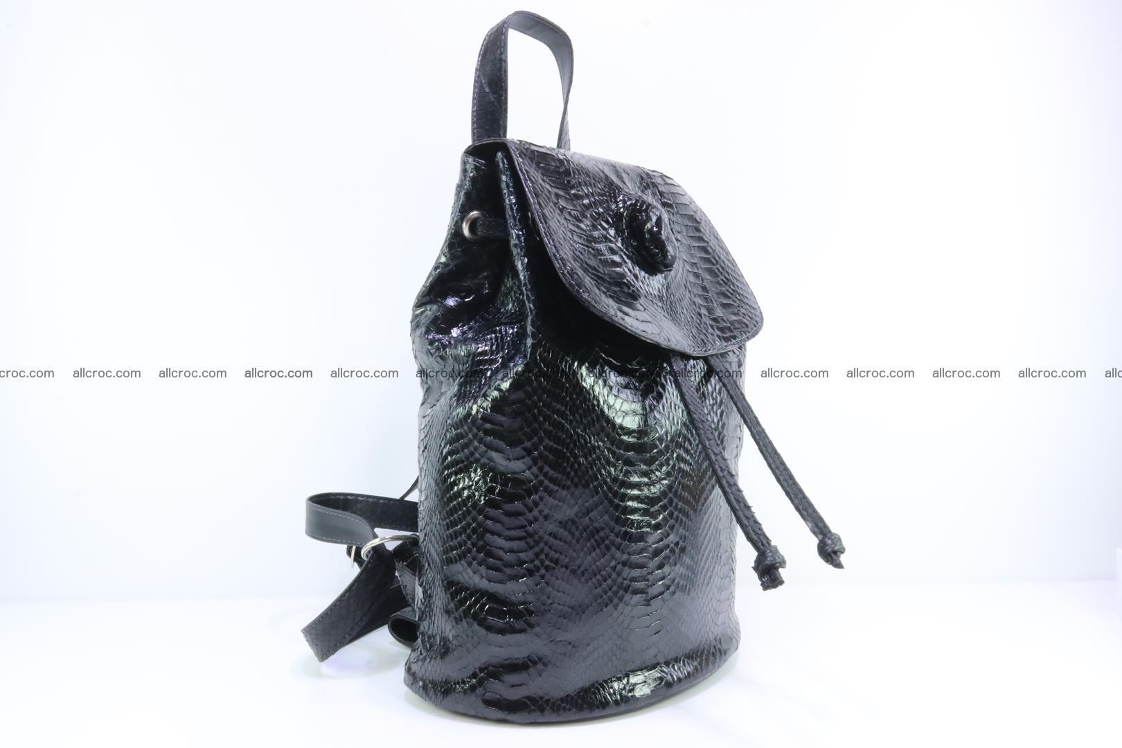 Cobra skin backpack with head of cobra 417 Foto 1