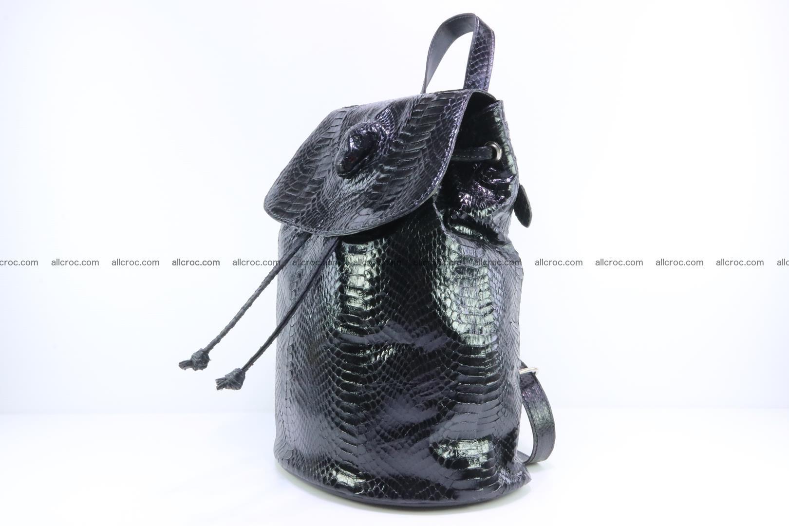 Cobra skin backpack with head of cobra 417 Foto 2
