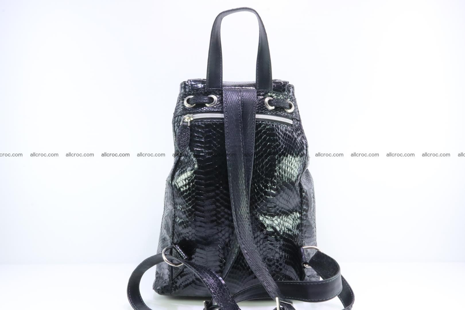 Cobra skin backpack with head of cobra 417 Foto 3