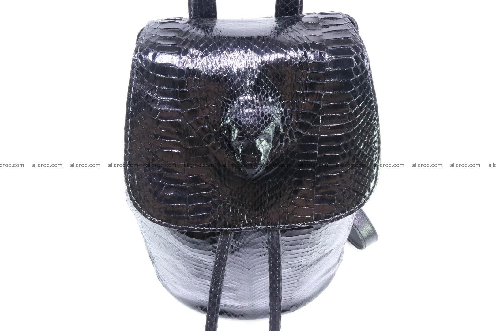 Cobra skin backpack with head of cobra 417 Foto 5