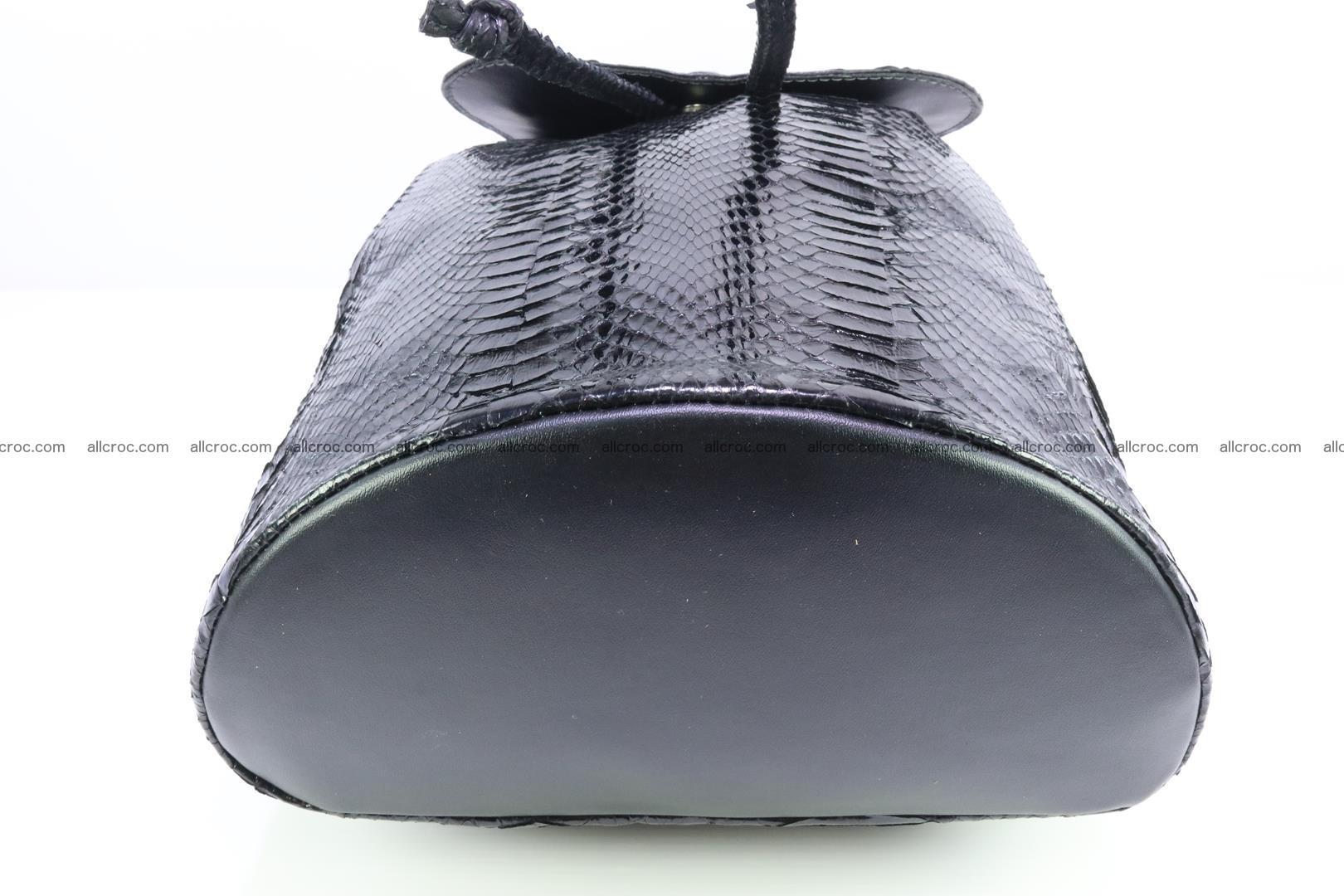 Cobra skin backpack with head of cobra 417 Foto 8