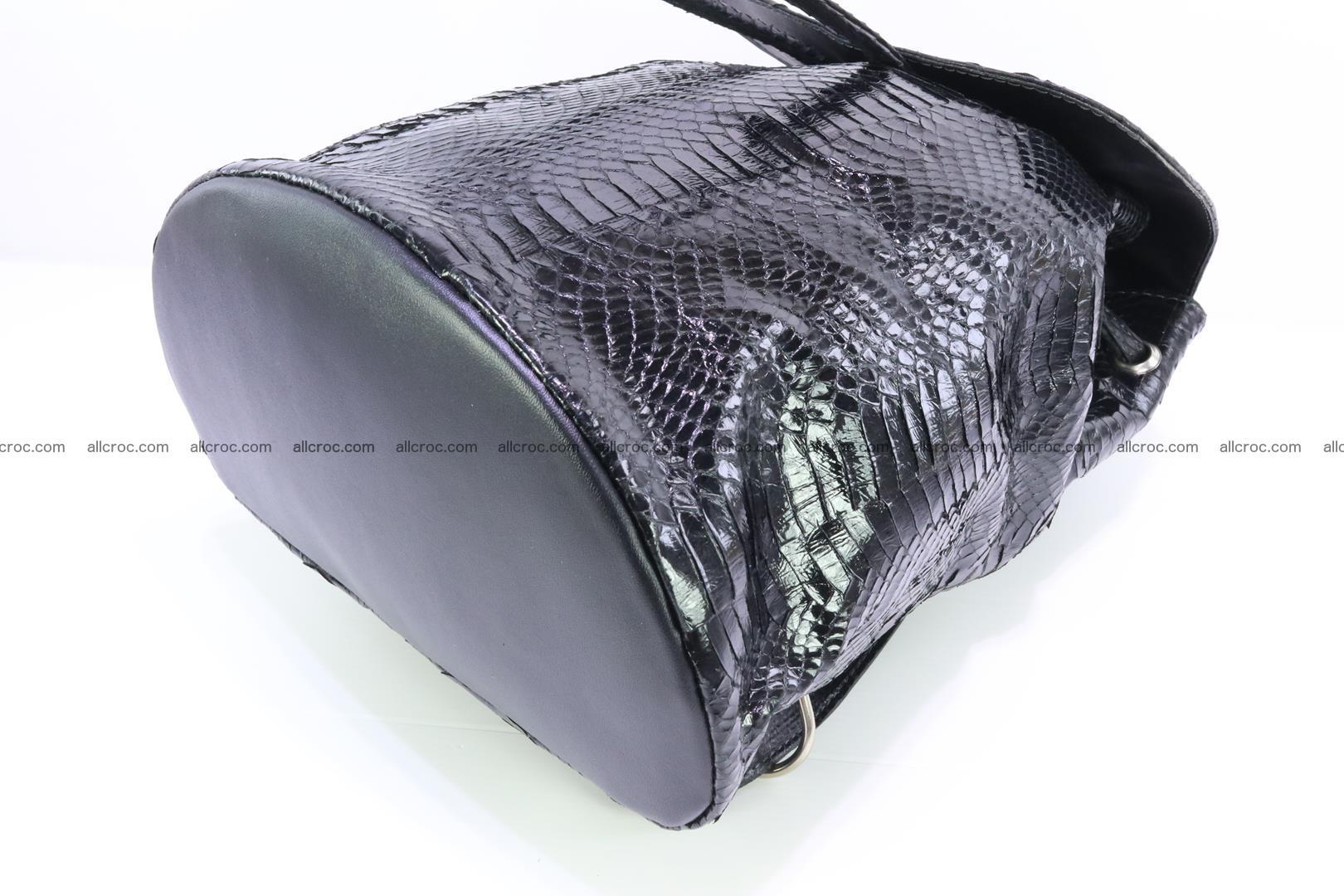 Cobra skin backpack with head of cobra 417 Foto 10