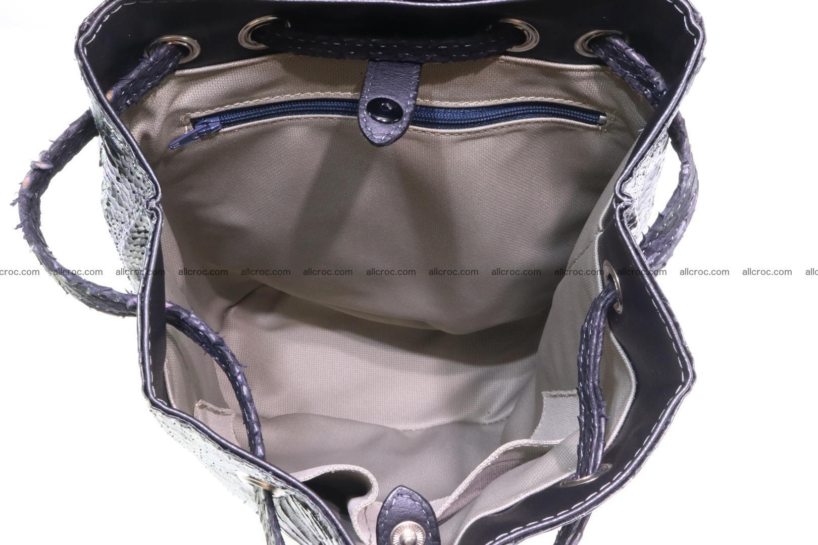Cobra skin backpack with head of cobra 417 Foto 11