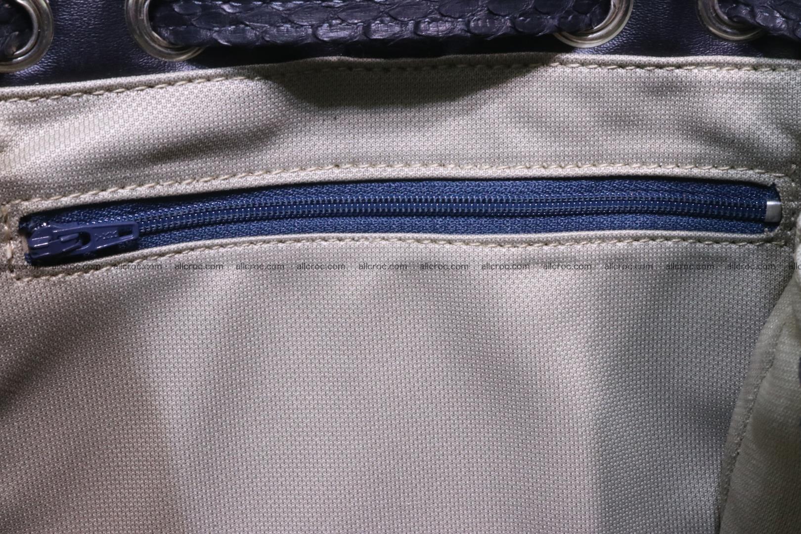 Cobra skin backpack with head of cobra 417 Foto 12