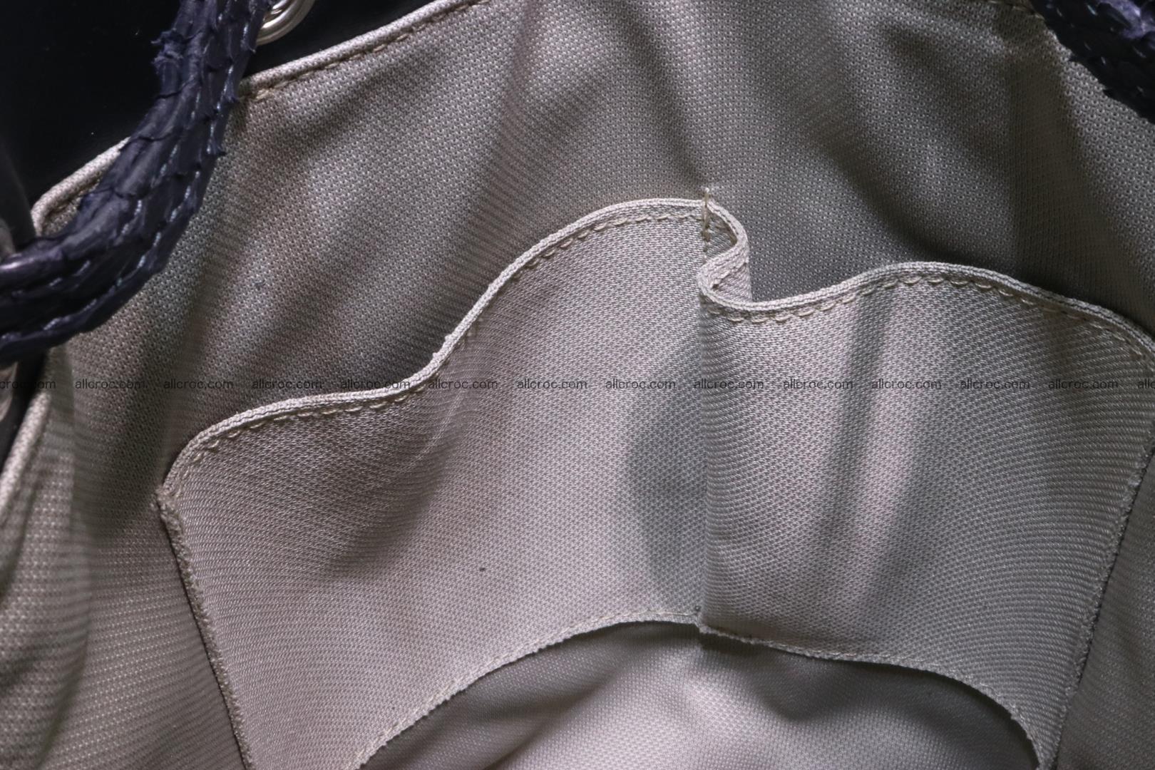 Cobra skin backpack with head of cobra 417 Foto 13