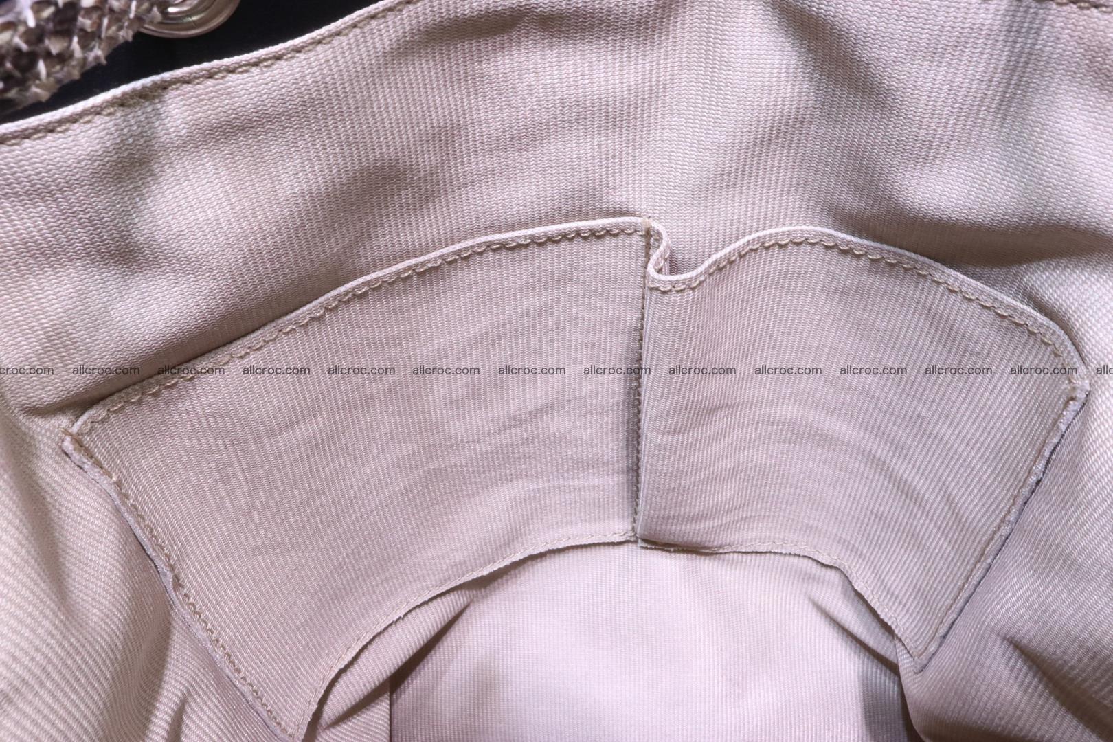 Cobra skin backpack with head of cobra 187 Foto 13