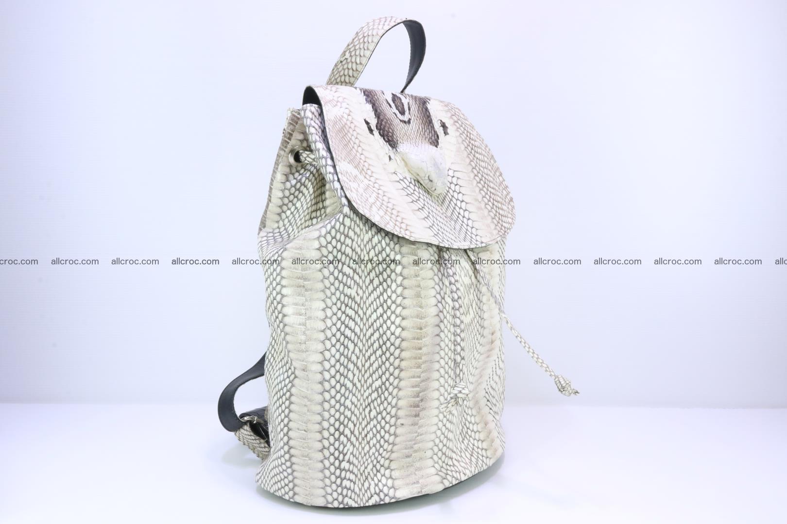 Cobra skin backpack with head of cobra 187 Foto 2