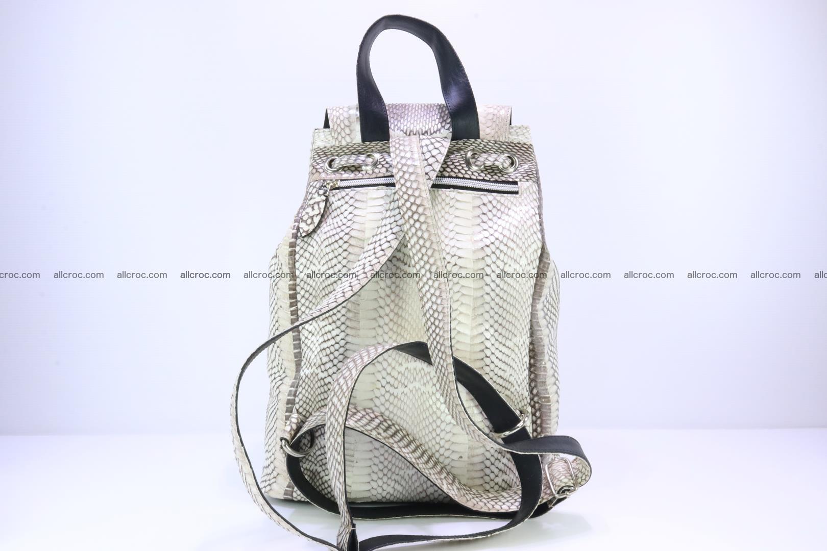 Cobra skin backpack with head of cobra 187 Foto 7