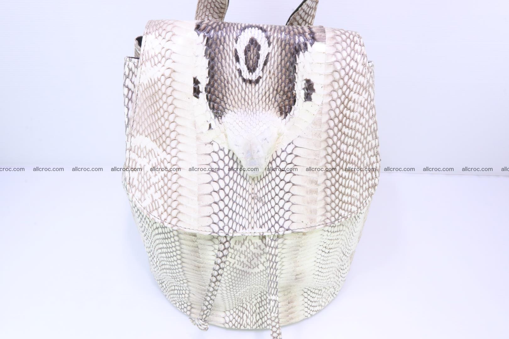 Cobra skin backpack with head of cobra 187 Foto 1