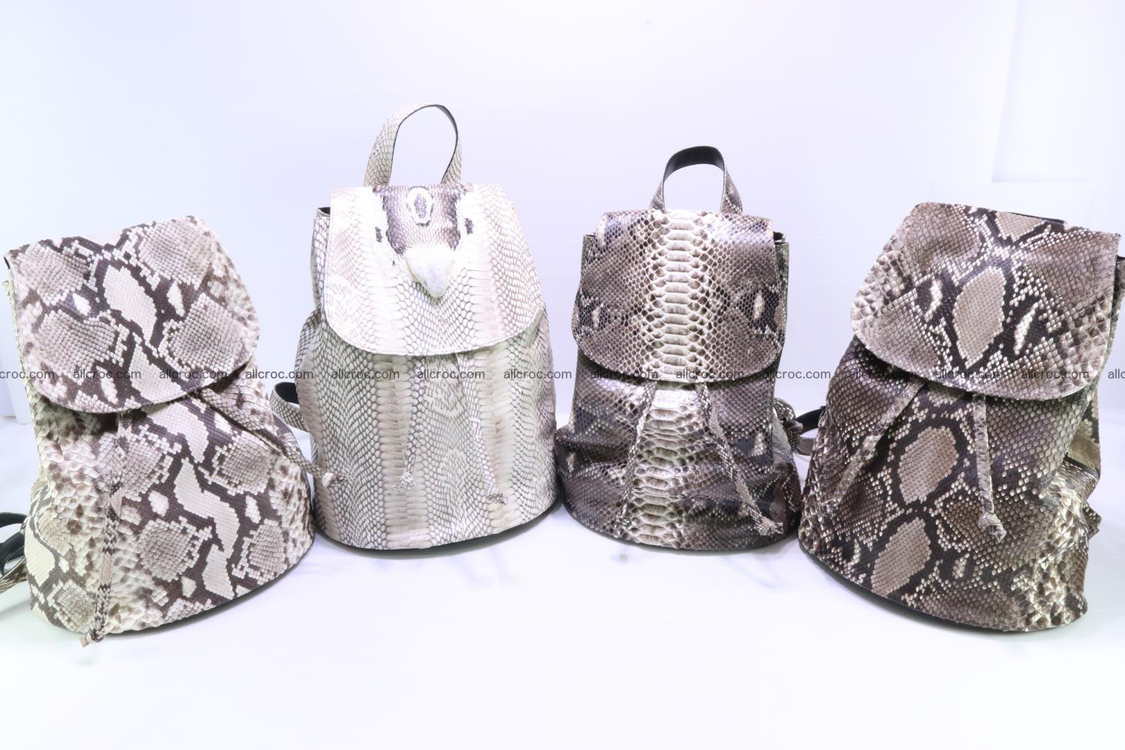 Cobra skin backpack with head of cobra 187 Foto 11