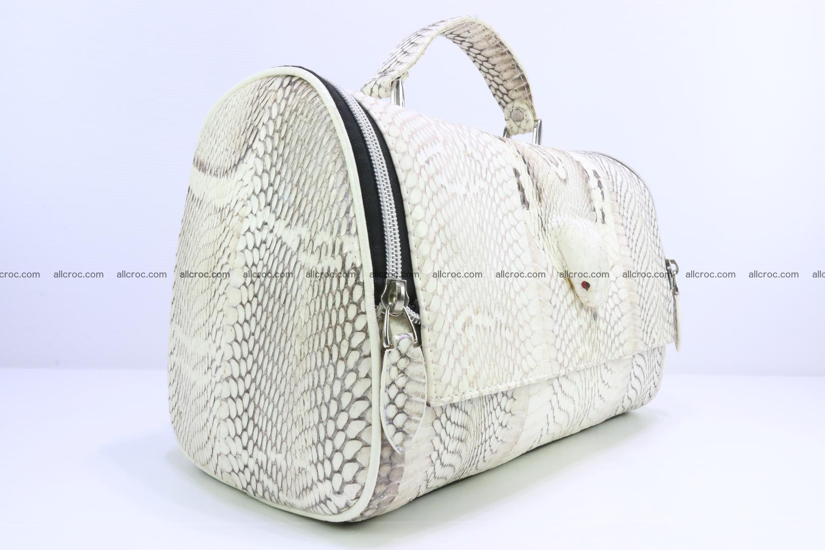 Cobra skin ladies handbag with head of cobra 195 Foto 1