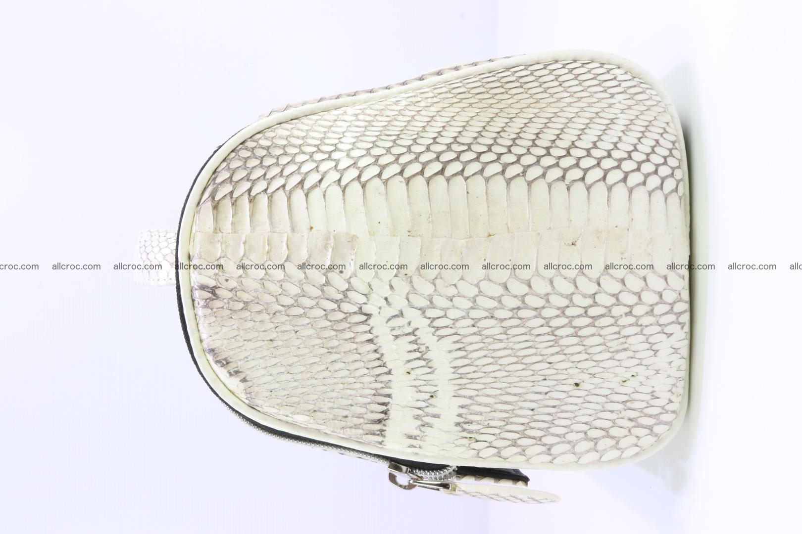 Cobra skin ladies handbag with head of cobra 195 Foto 4