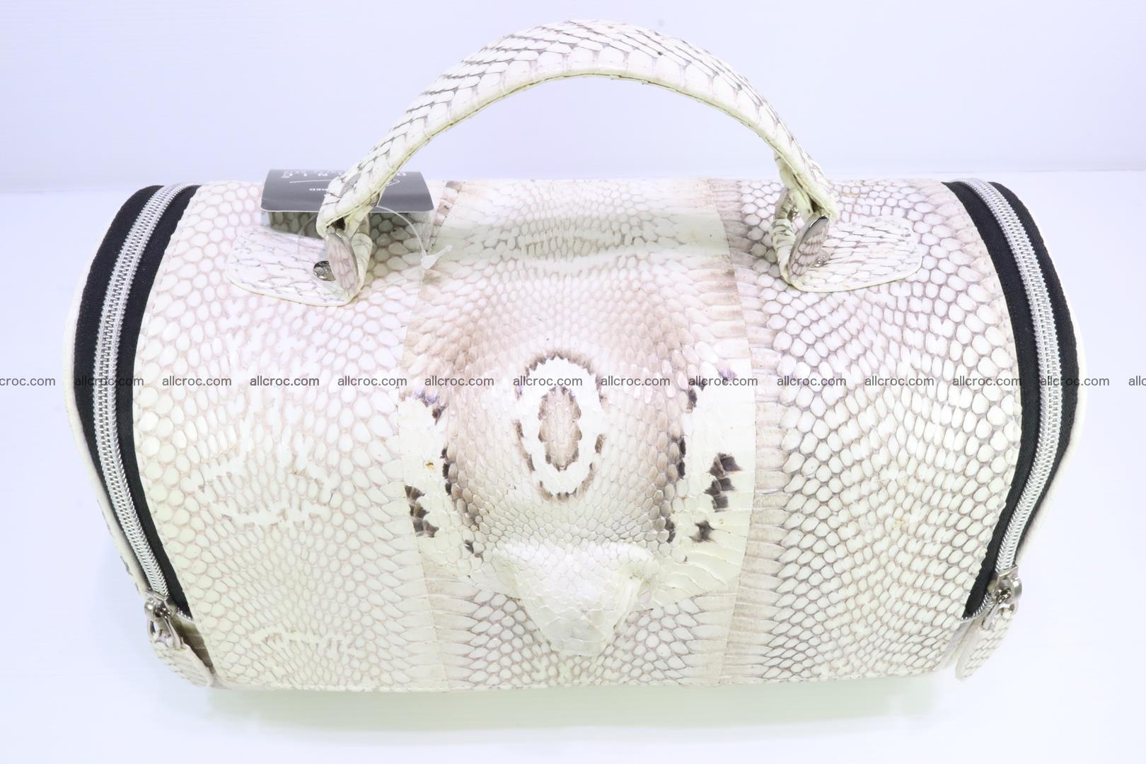 Cobra skin ladies handbag with head of cobra 195 Foto 5
