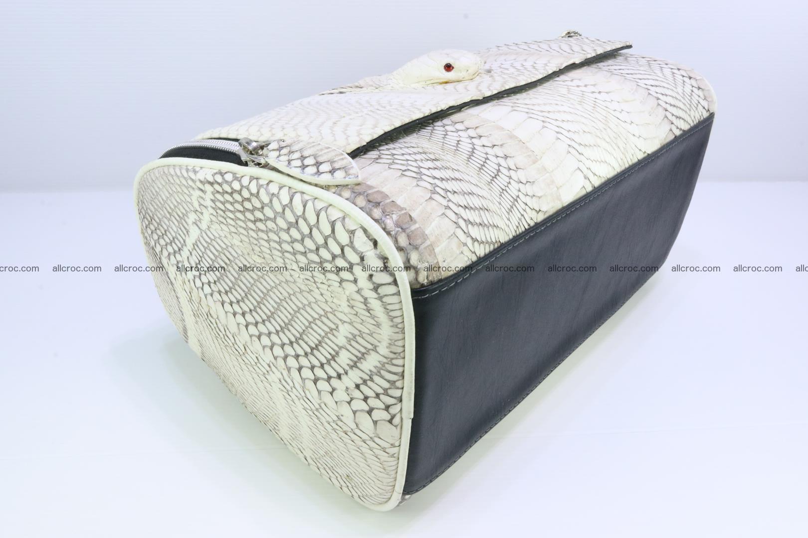 Cobra skin ladies handbag with head of cobra 195 Foto 9