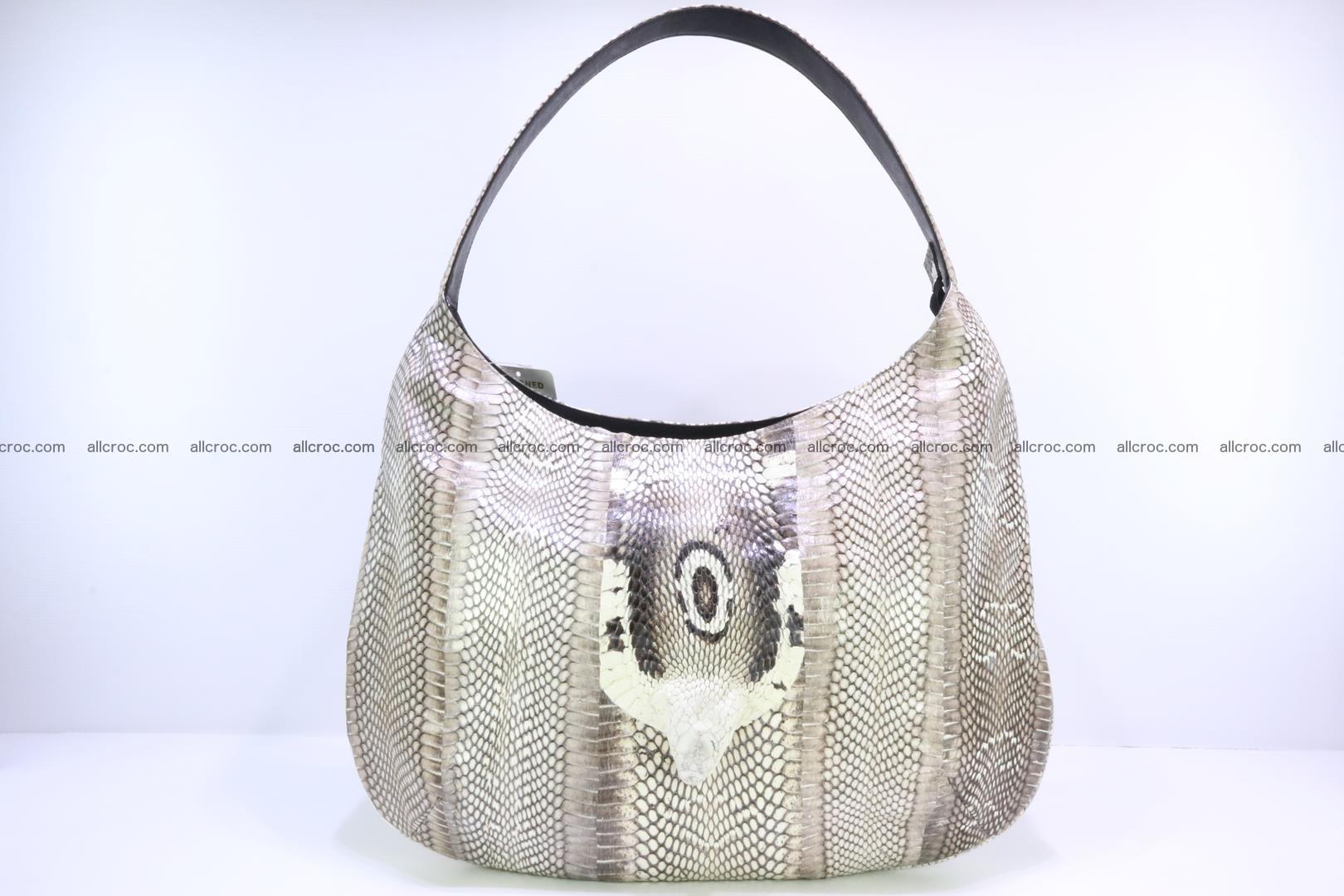 Cobra skin ladies handbag with head of cobra 194 Foto 0