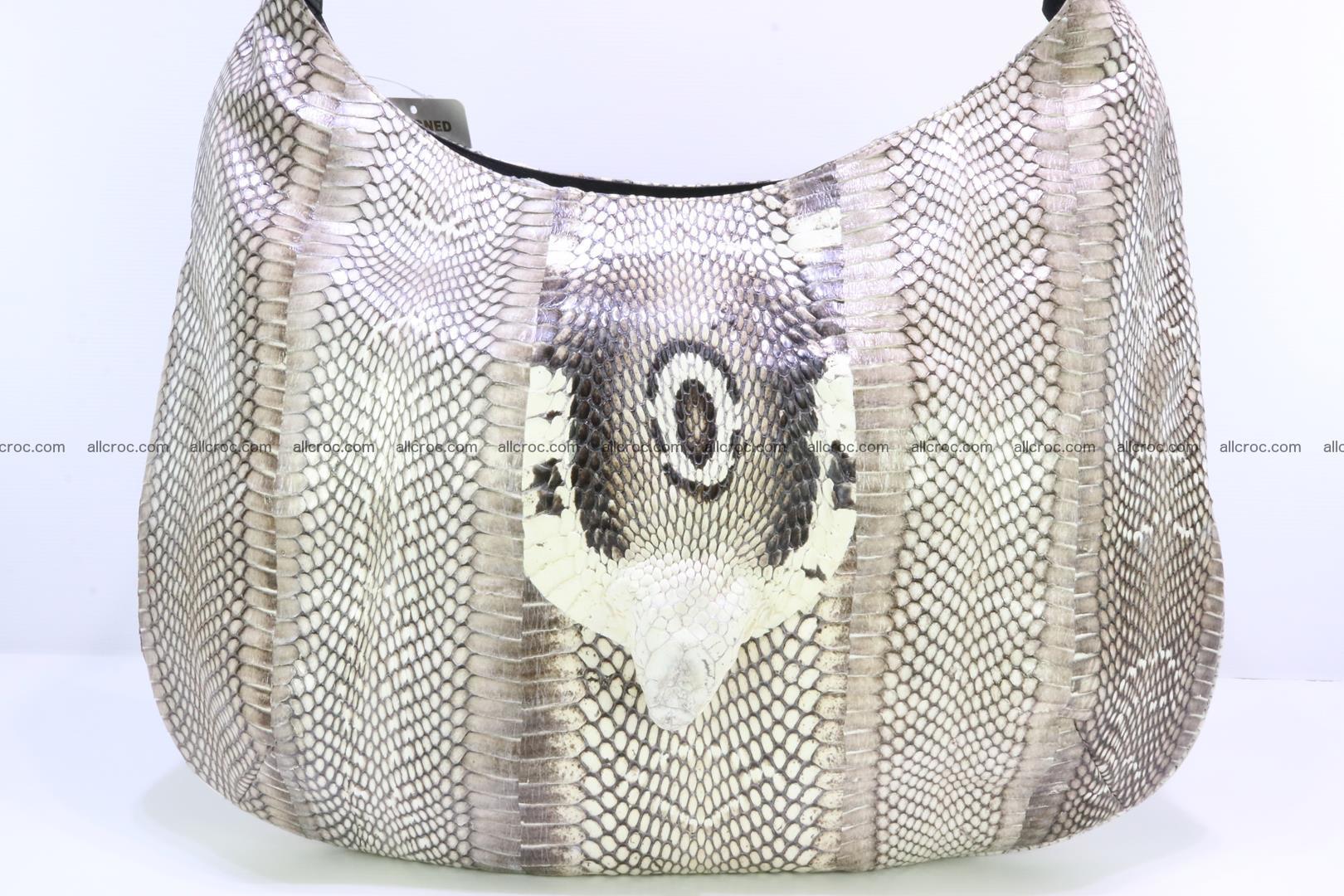 Cobra skin ladies handbag with head of cobra 194 Foto 2