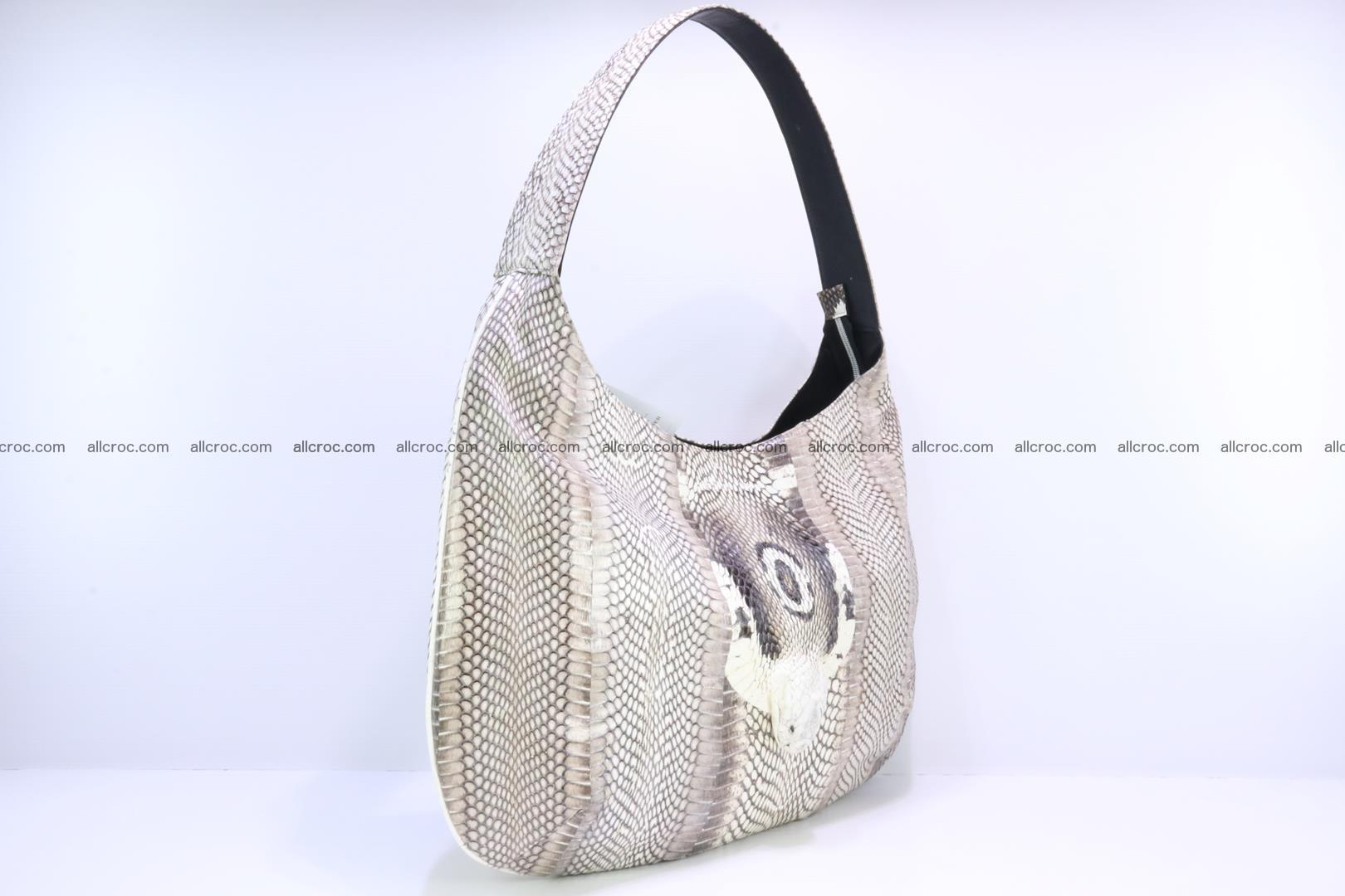 Cobra skin ladies handbag with head of cobra 194 Foto 1