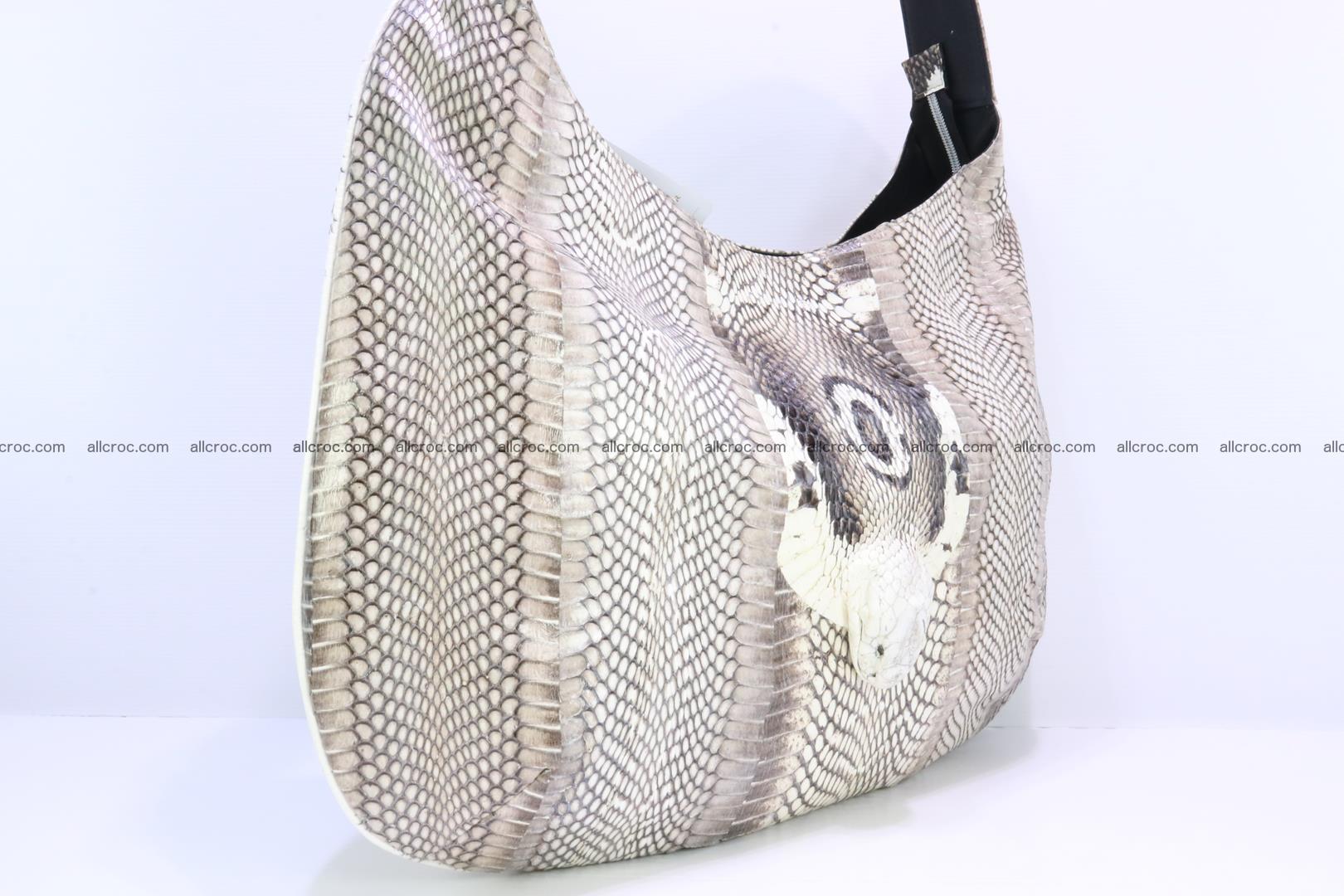 Cobra skin ladies handbag with head of cobra 194 Foto 3
