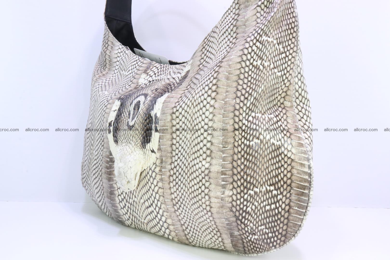 Cobra skin ladies handbag with head of cobra 194 Foto 4