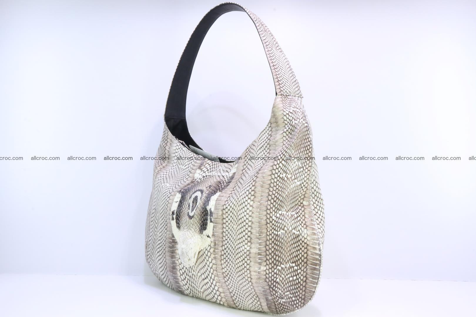 Cobra skin ladies handbag with head of cobra 194 Foto 5
