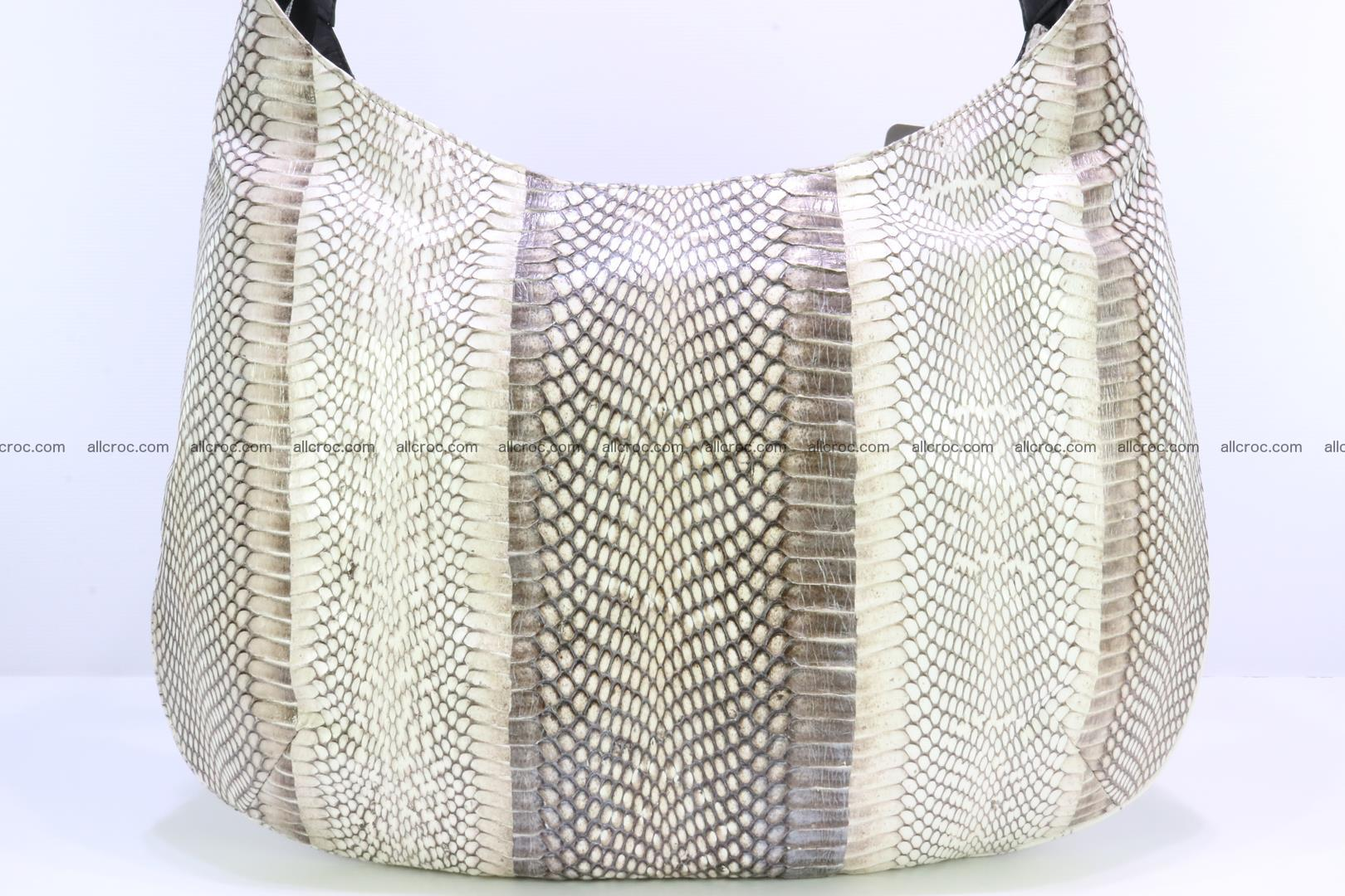 Cobra skin ladies handbag with head of cobra 194 Foto 8