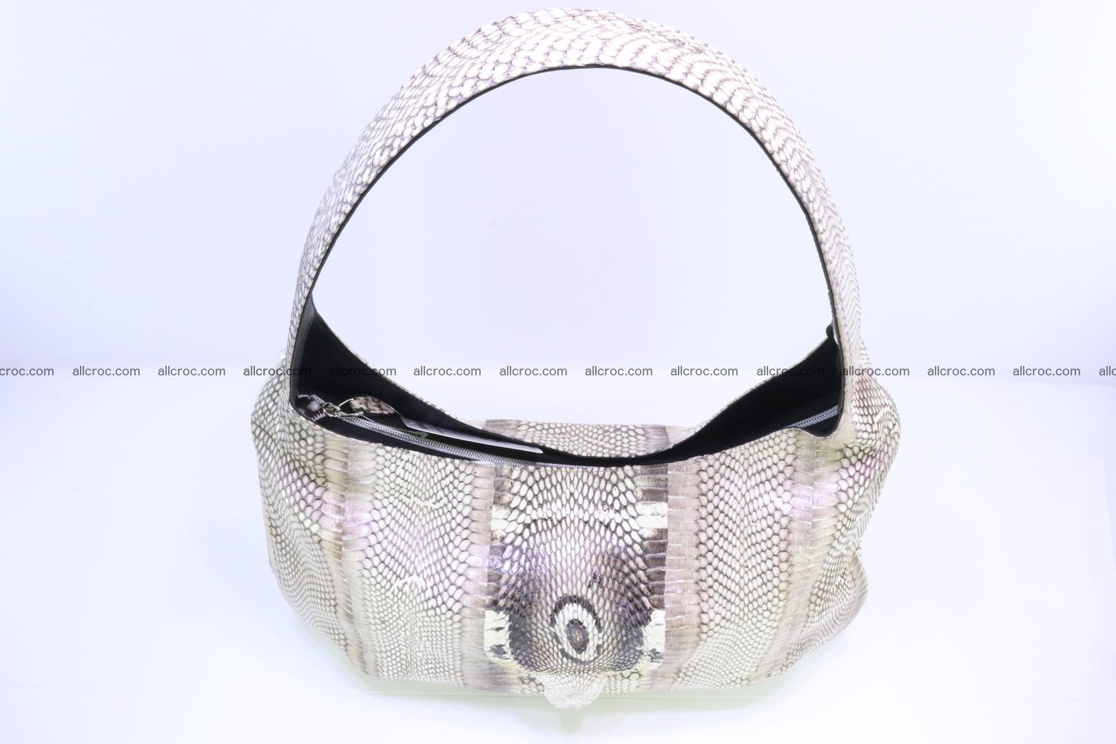 Cobra skin ladies handbag with head of cobra 194 Foto 7