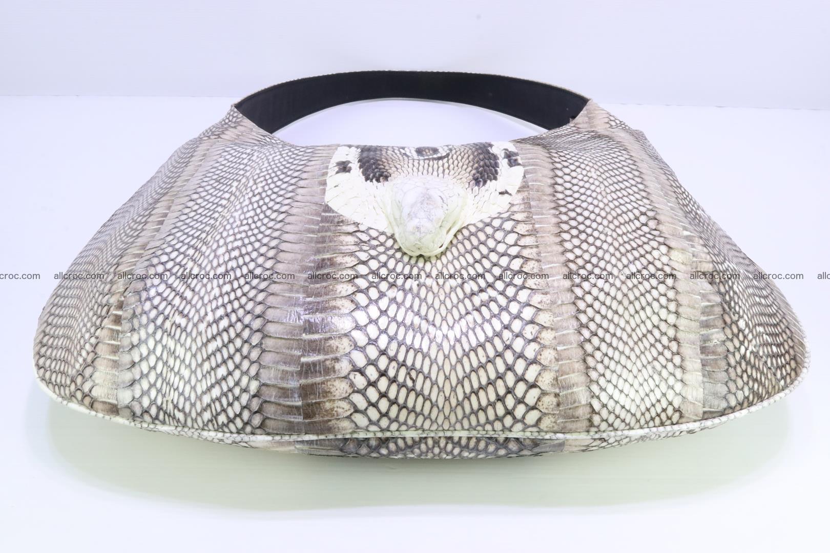 Cobra skin ladies handbag with head of cobra 194 Foto 11