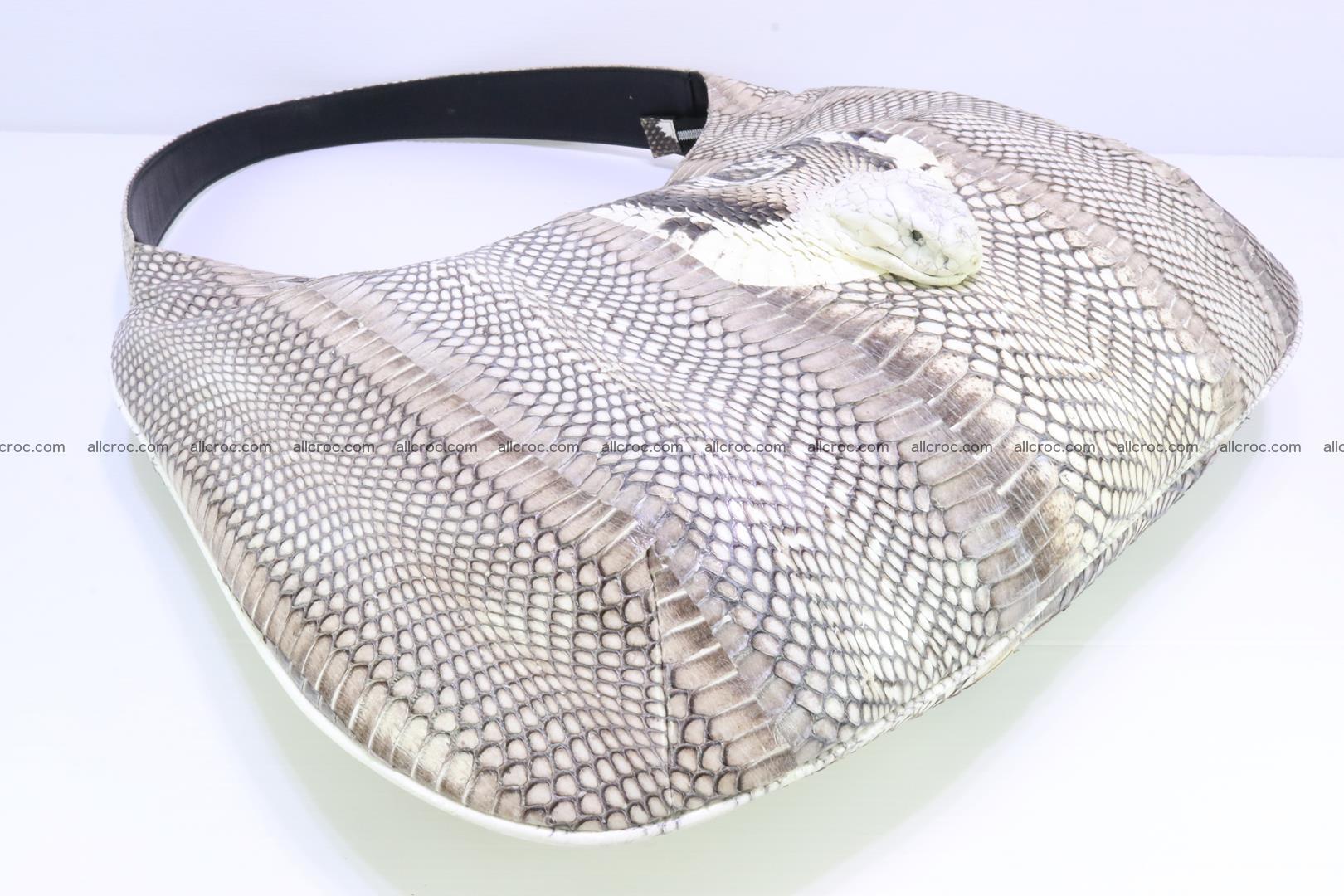 Cobra skin ladies handbag with head of cobra 194 Foto 12