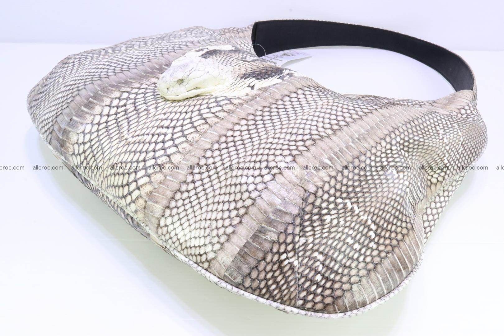 Cobra skin ladies handbag with head of cobra 194 Foto 13