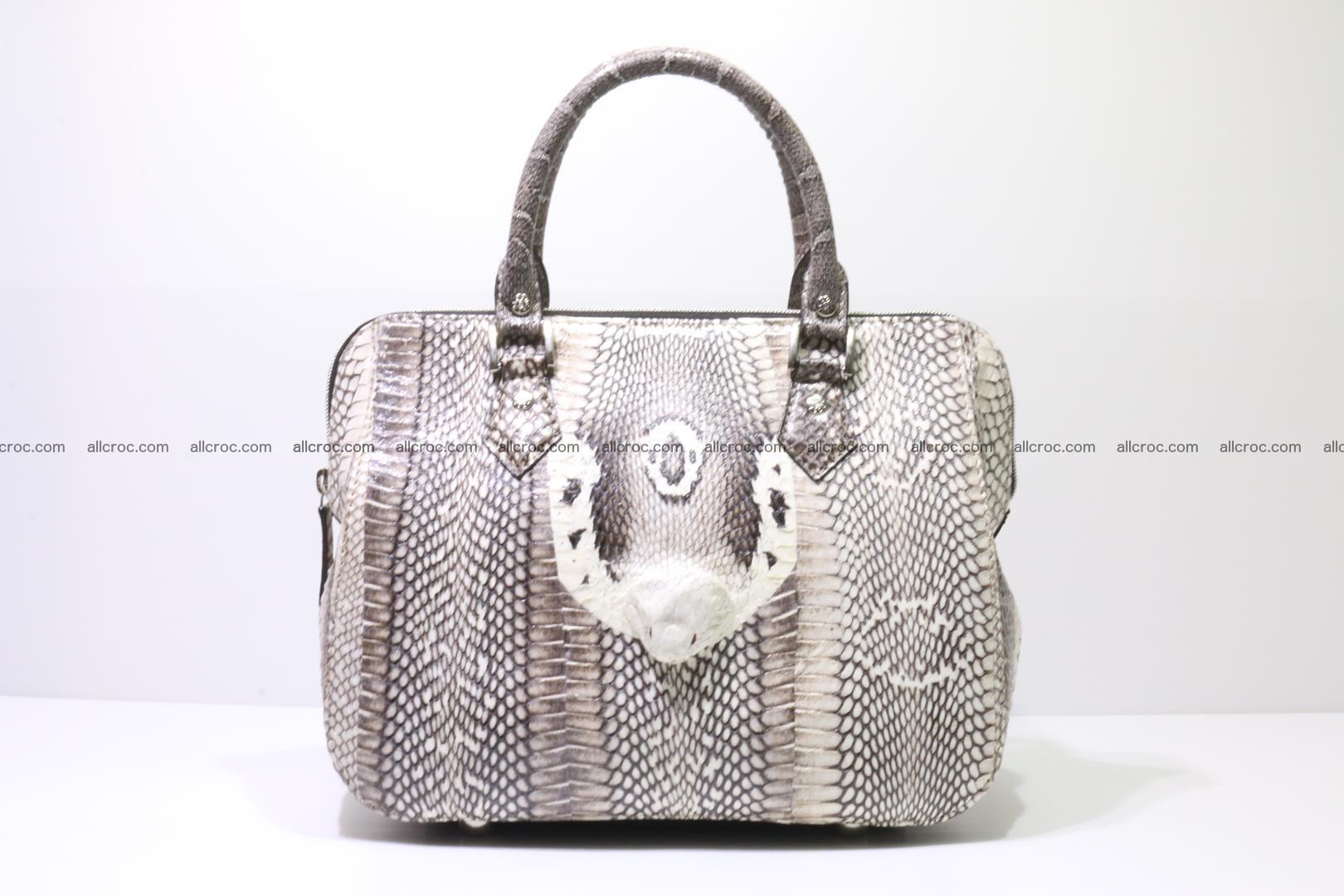 Cobra skin ladies handbag with head of cobra 193 Foto 0