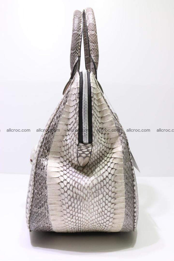 Cobra skin ladies handbag with head of cobra 193 Foto 6