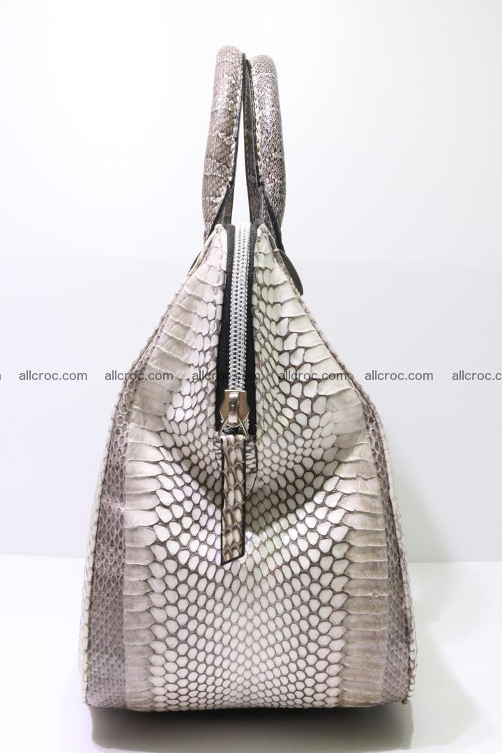 Cobra skin ladies handbag with head of cobra 193 Foto 7