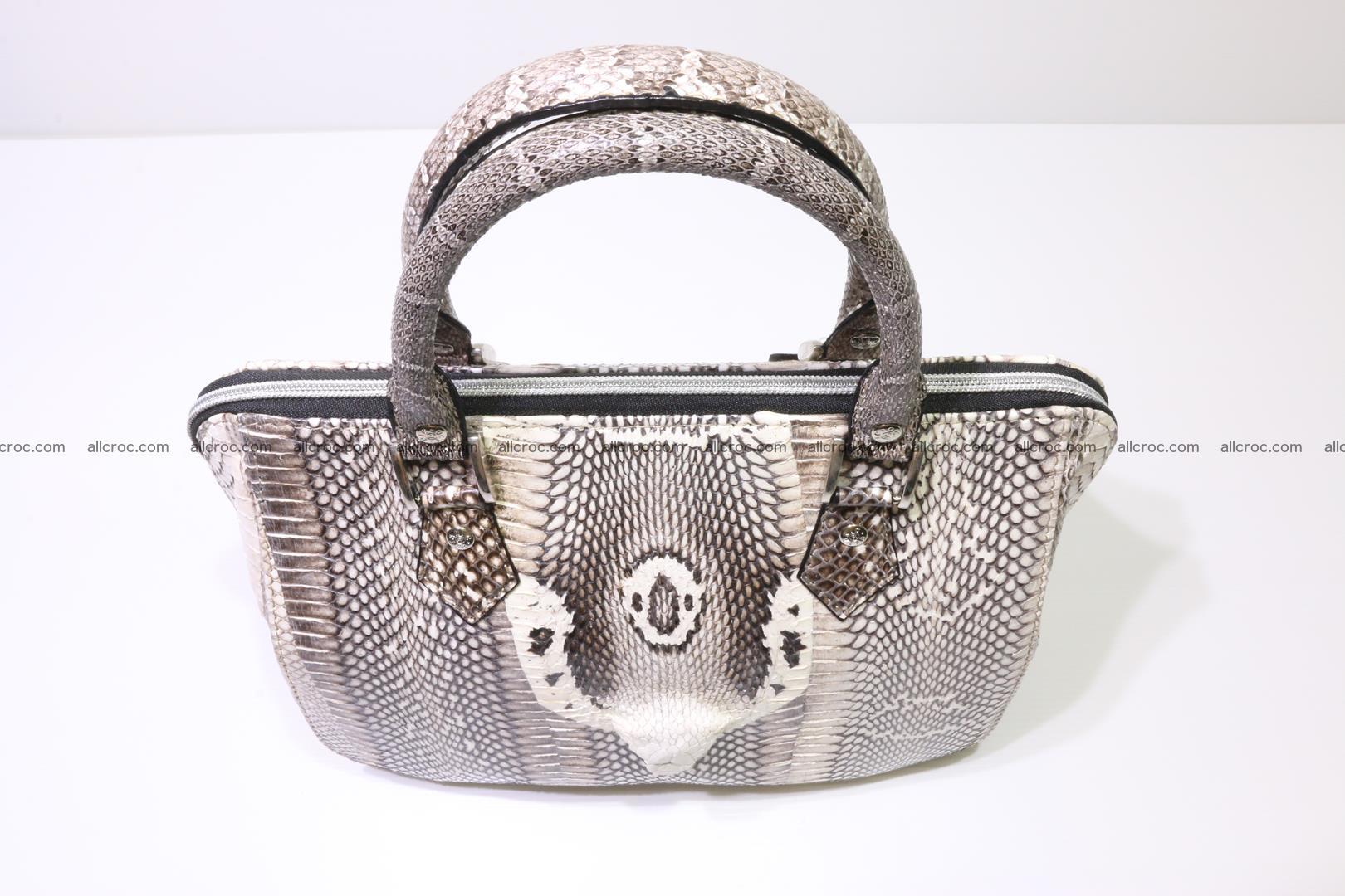 Cobra skin ladies handbag with head of cobra 193 Foto 14