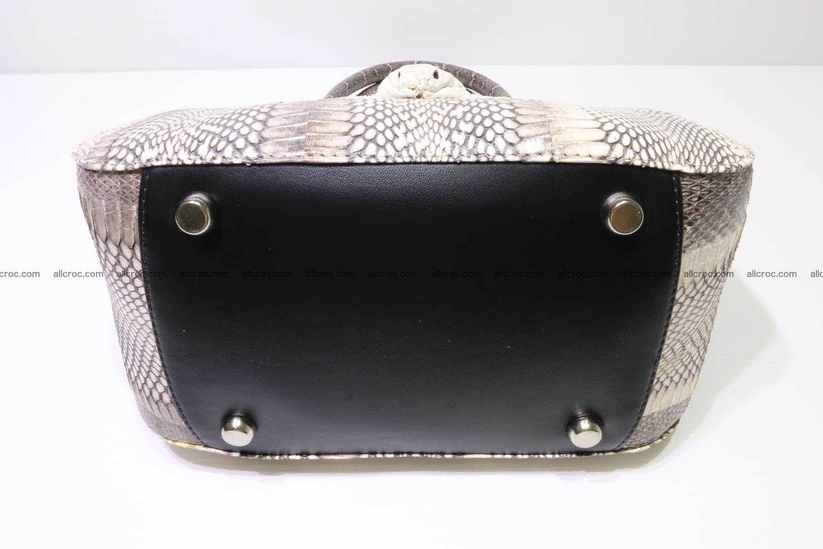 Cobra skin ladies handbag with head of cobra 193 Foto 9