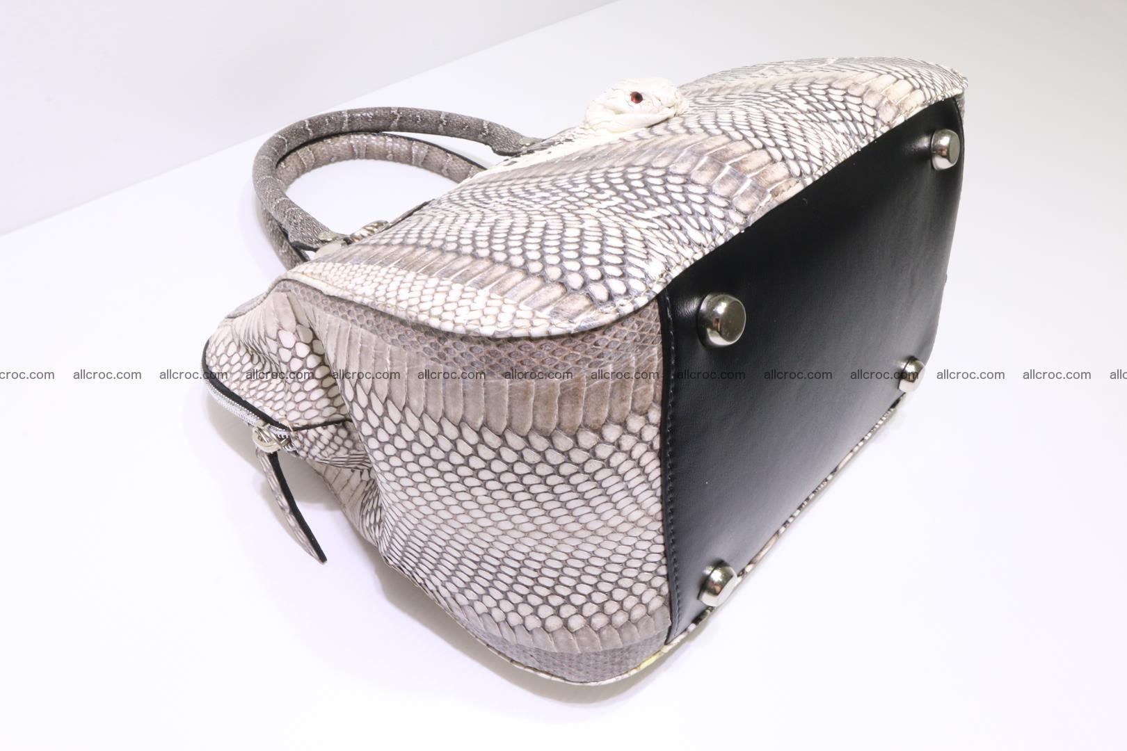 Cobra skin ladies handbag with head of cobra 193 Foto 10