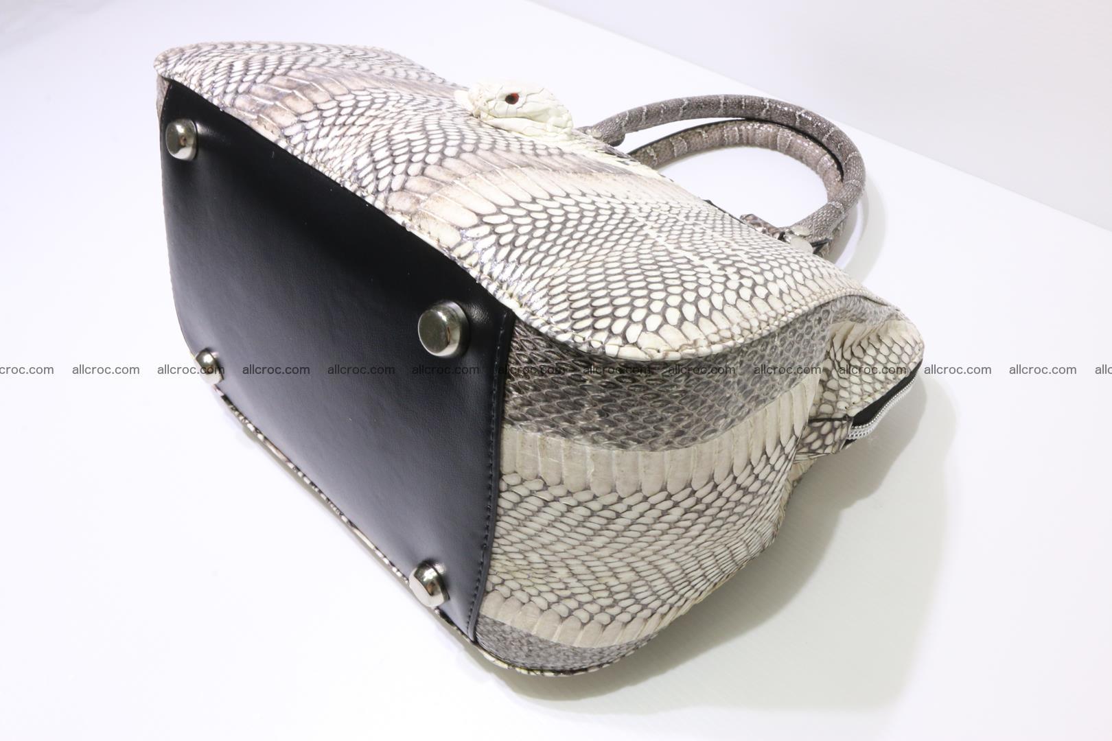 Cobra skin ladies handbag with head of cobra 193 Foto 11