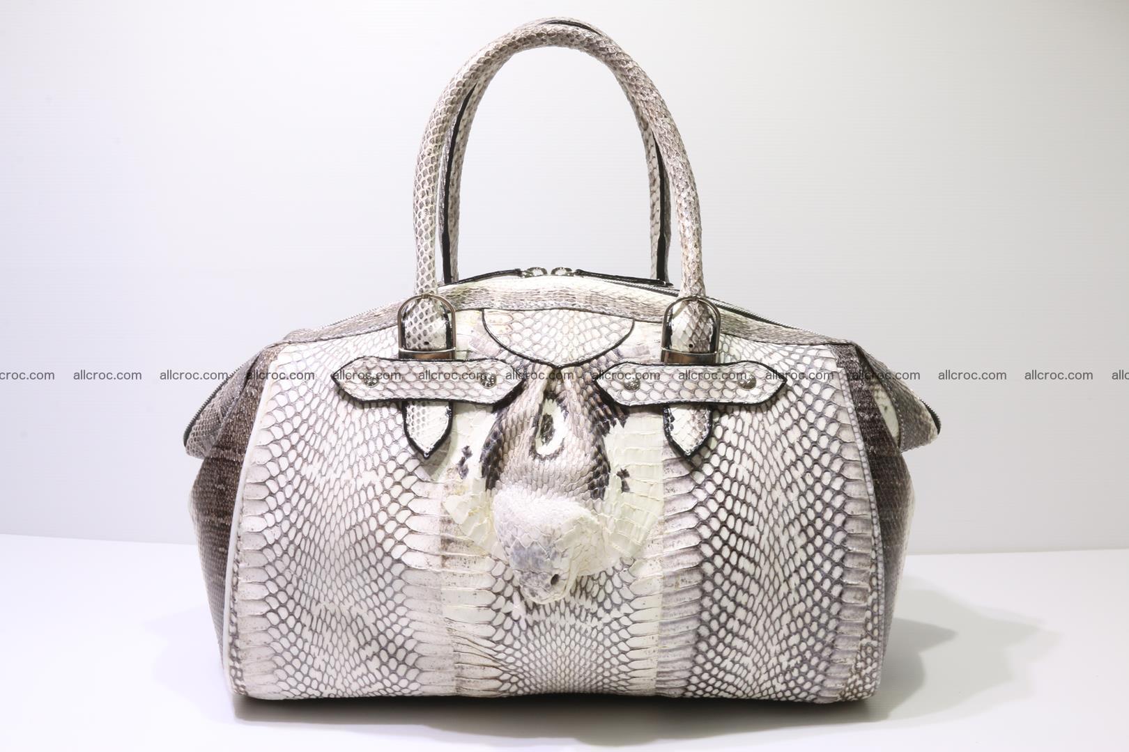 Cobra skin ladies handbag with head of cobra 192 Foto 0