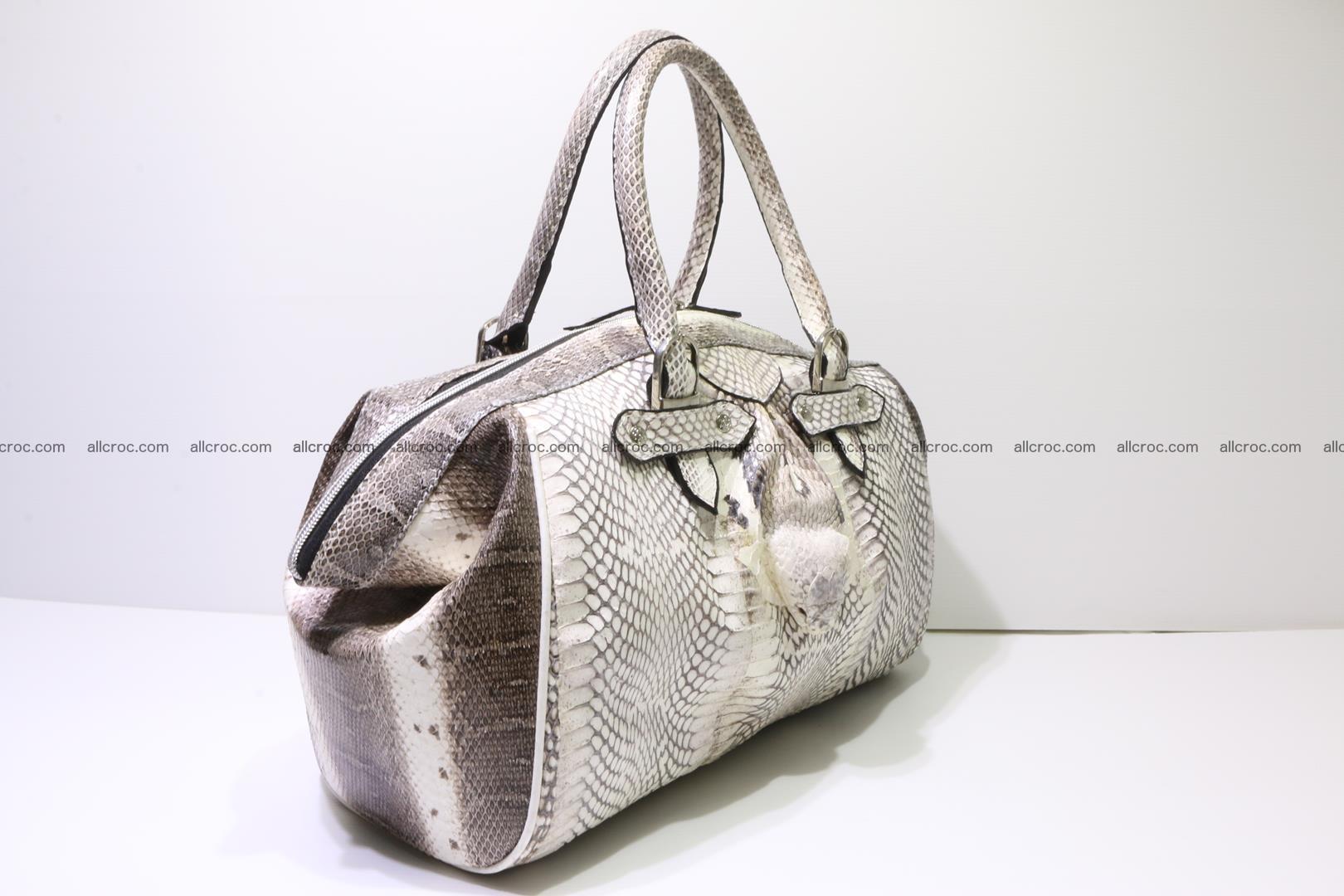 Cobra skin ladies handbag with head of cobra 192 Foto 1