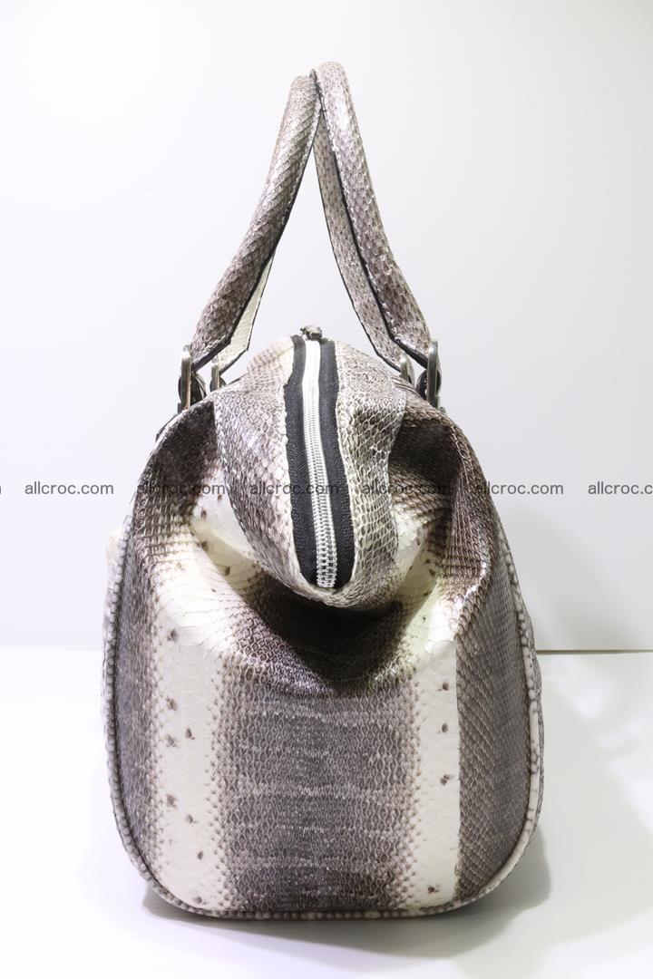 Cobra skin ladies handbag with head of cobra 192 Foto 3