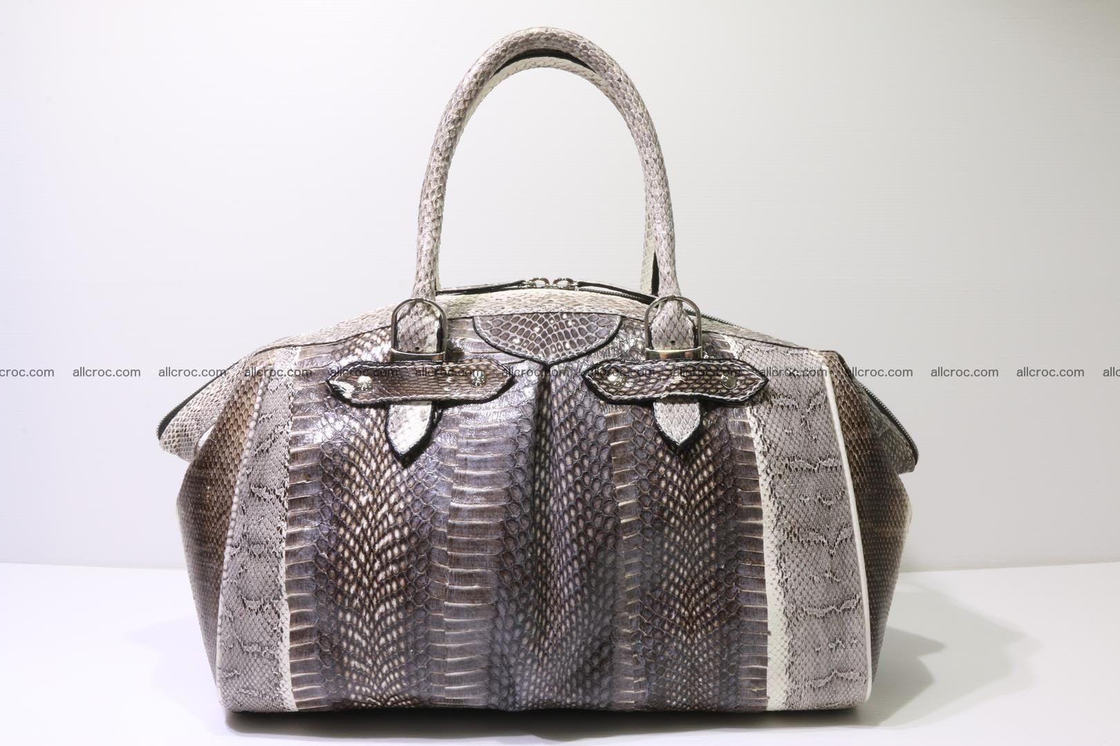 Cobra skin ladies handbag with head of cobra 192 Foto 4