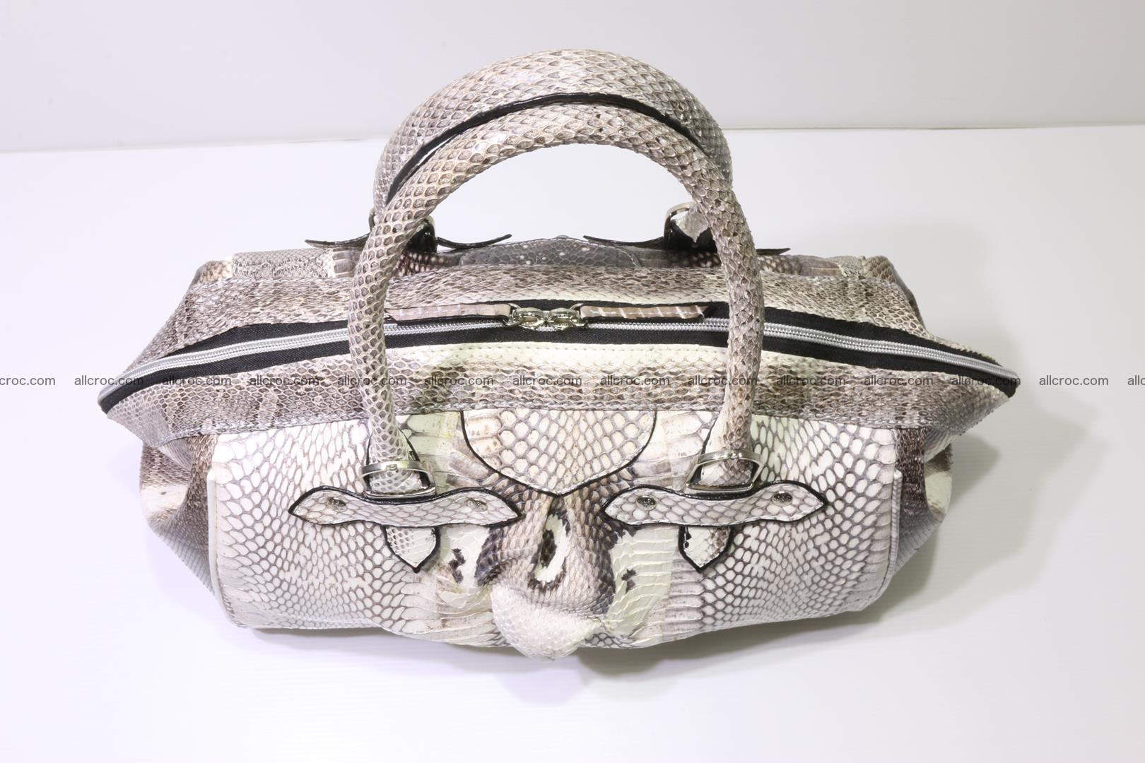 Cobra skin ladies handbag with head of cobra 192 Foto 5