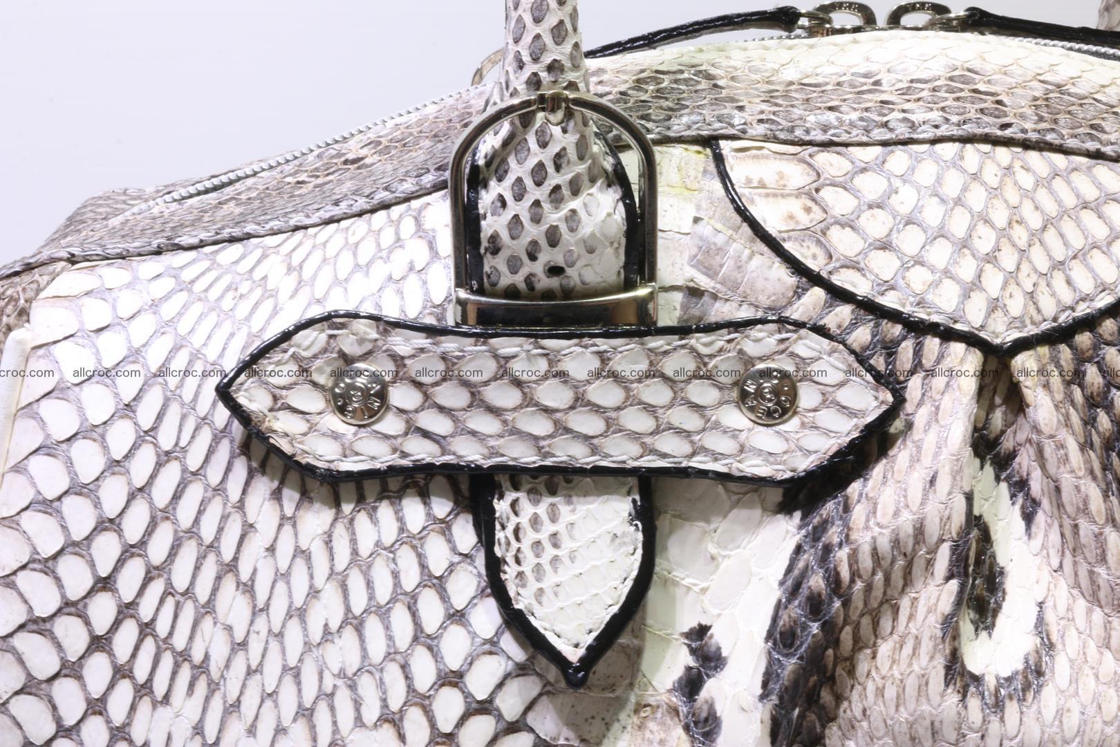 Cobra skin ladies handbag with head of cobra 192 Foto 10