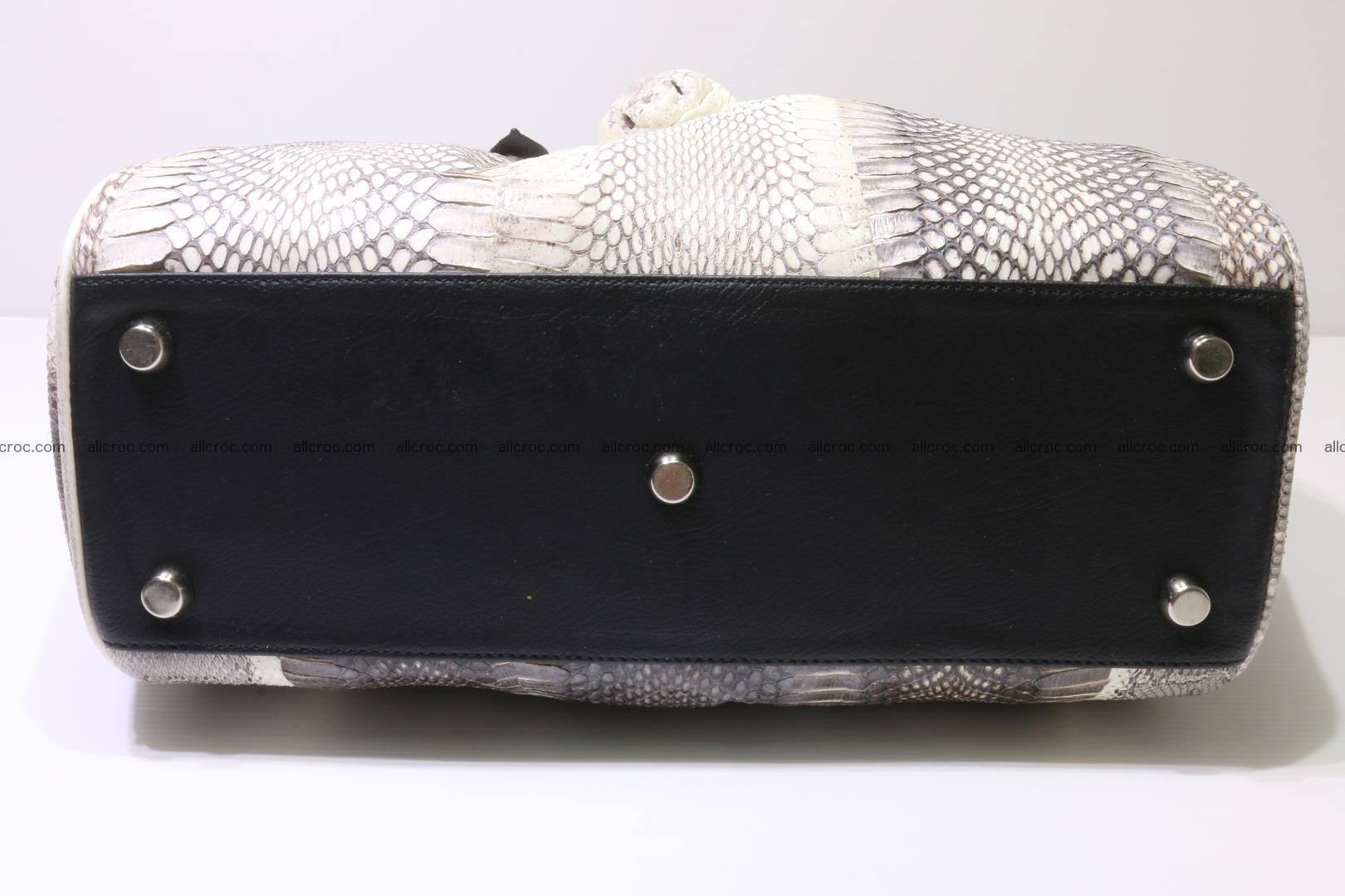 Cobra skin ladies handbag with head of cobra 192 Foto 7