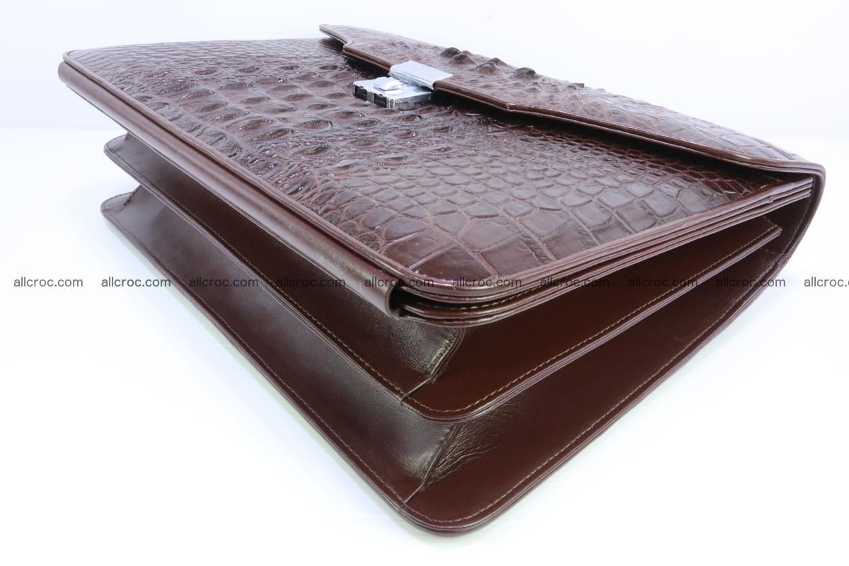 Crocodile skin briefcase 293 Foto 7