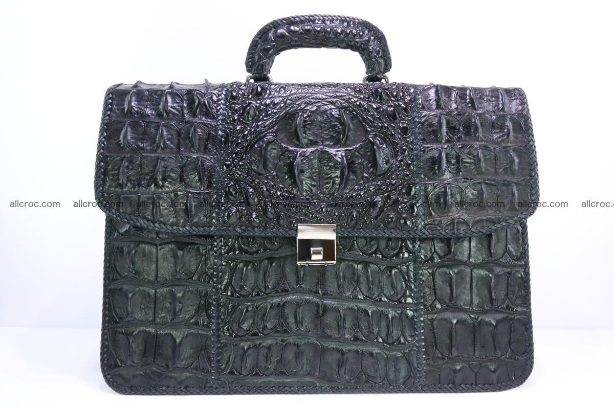 Hand braided crocodile skin briefcase 286 Foto 0