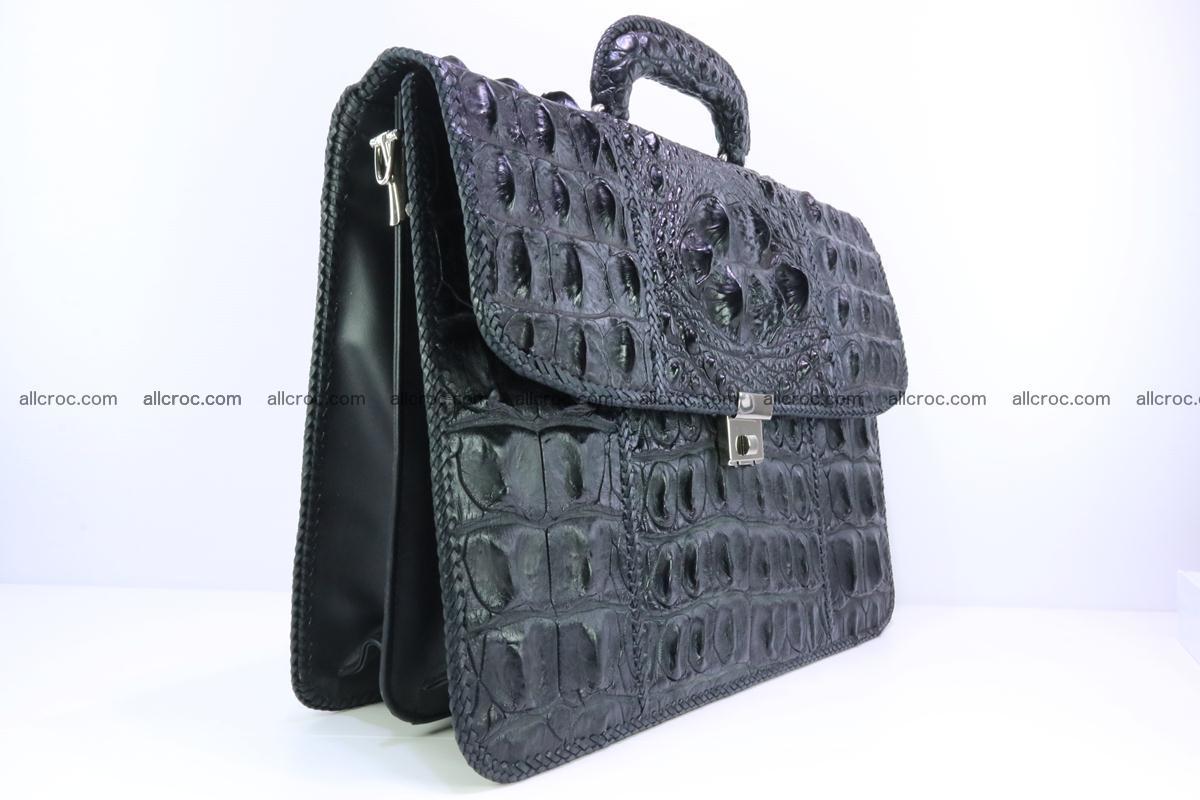 Hand braided crocodile skin briefcase 286 Foto 1