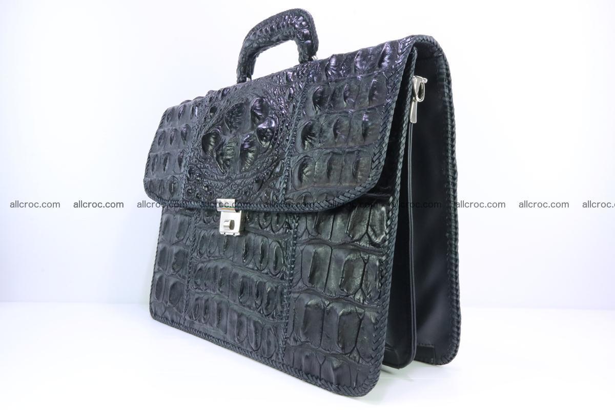 Hand braided crocodile skin briefcase 286 Foto 2